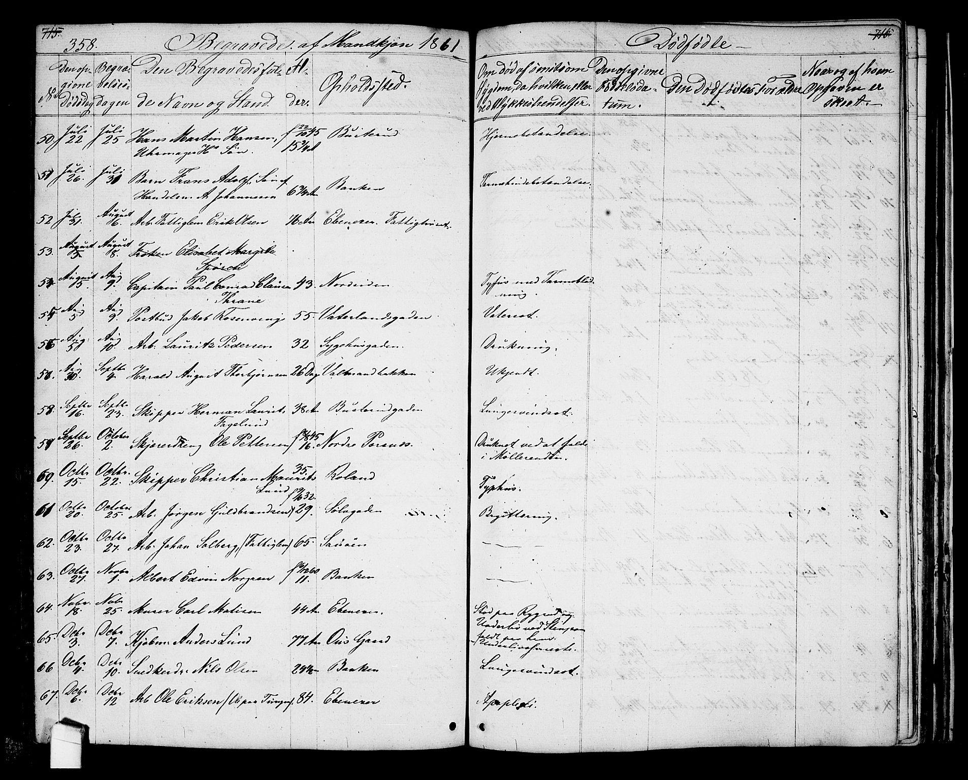 SAO, Halden prestekontor Kirkebøker, G/Ga/L0005a: Klokkerbok nr. 5A, 1855-1864, s. 358