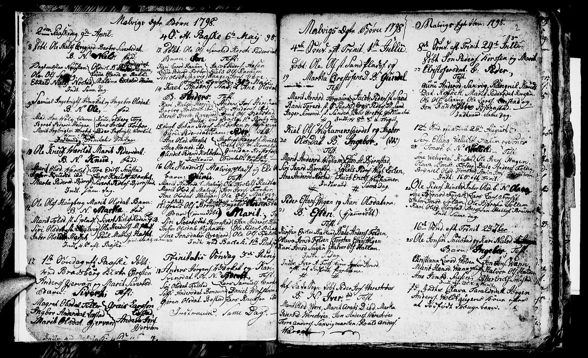 SAT, Ministerialprotokoller, klokkerbøker og fødselsregistre - Sør-Trøndelag, 616/L0419: Klokkerbok nr. 616C02, 1797-1816, s. 2