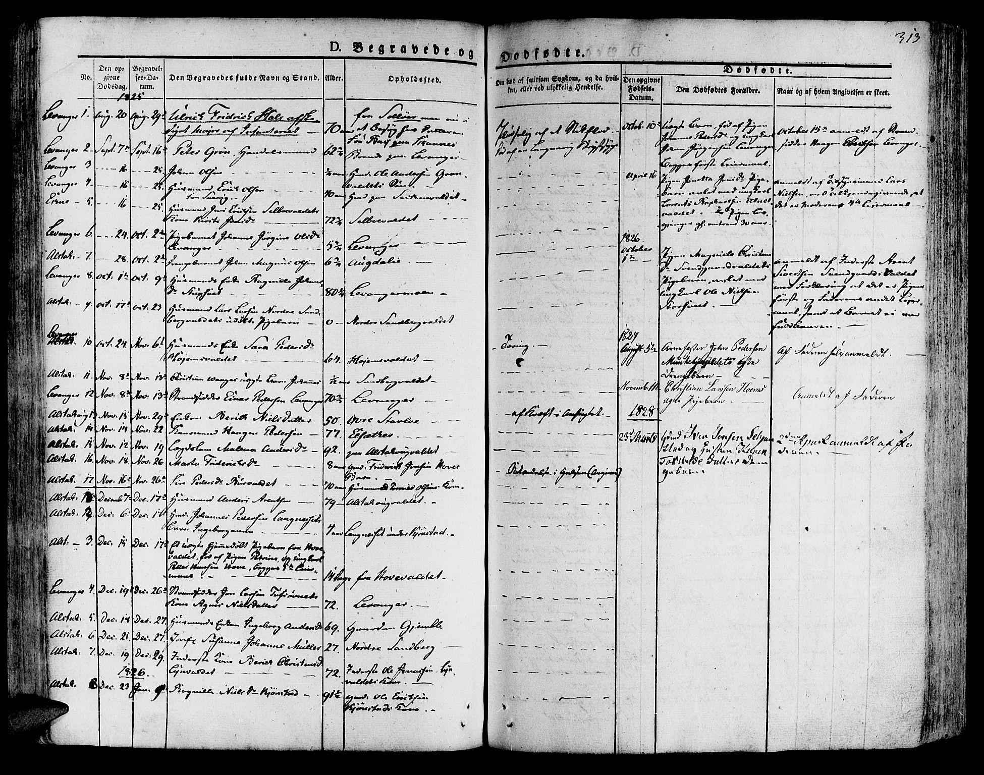 SAT, Ministerialprotokoller, klokkerbøker og fødselsregistre - Nord-Trøndelag, 717/L0152: Ministerialbok nr. 717A05 /1, 1825-1836, s. 313