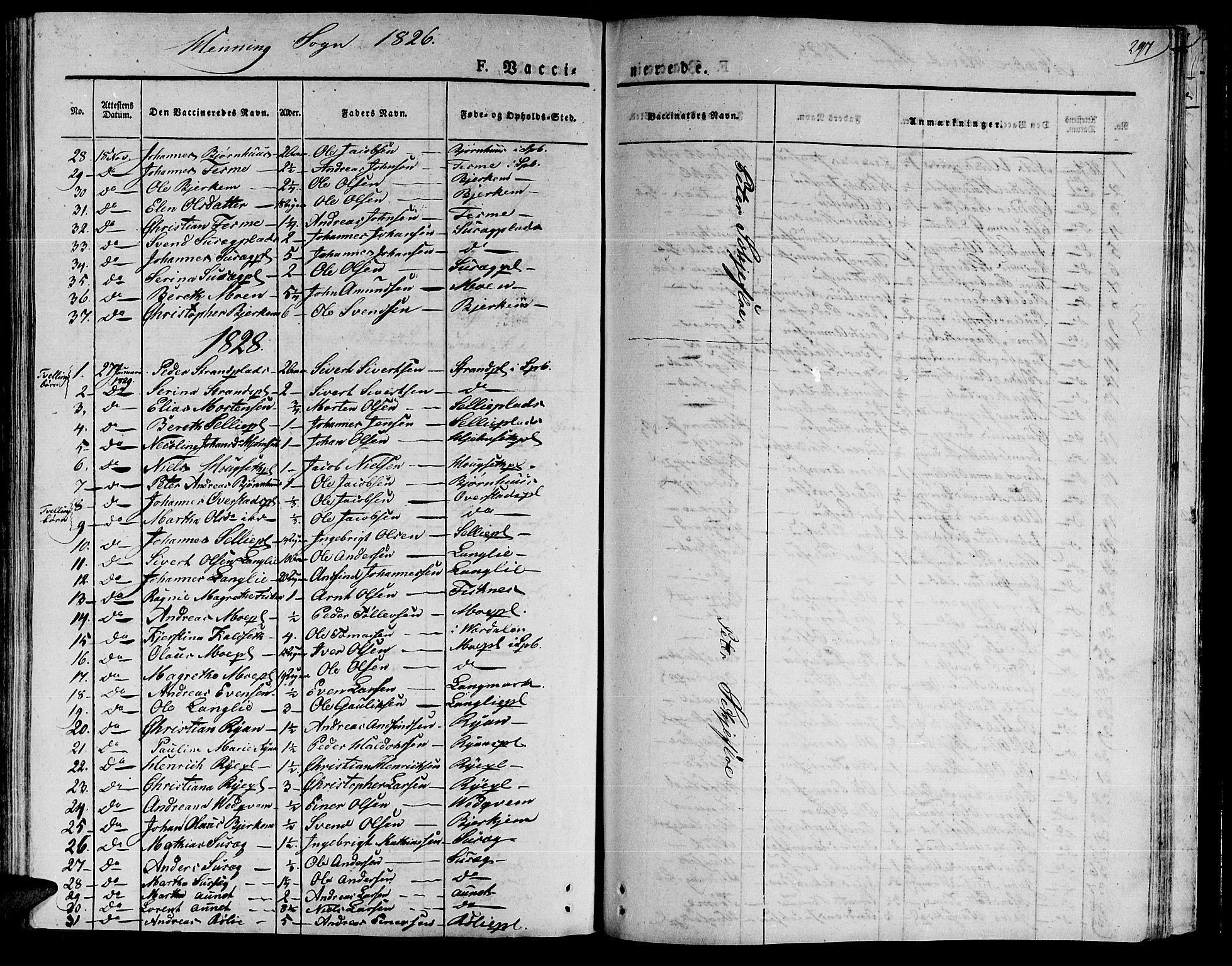 SAT, Ministerialprotokoller, klokkerbøker og fødselsregistre - Nord-Trøndelag, 735/L0336: Ministerialbok nr. 735A05 /1, 1825-1835, s. 297