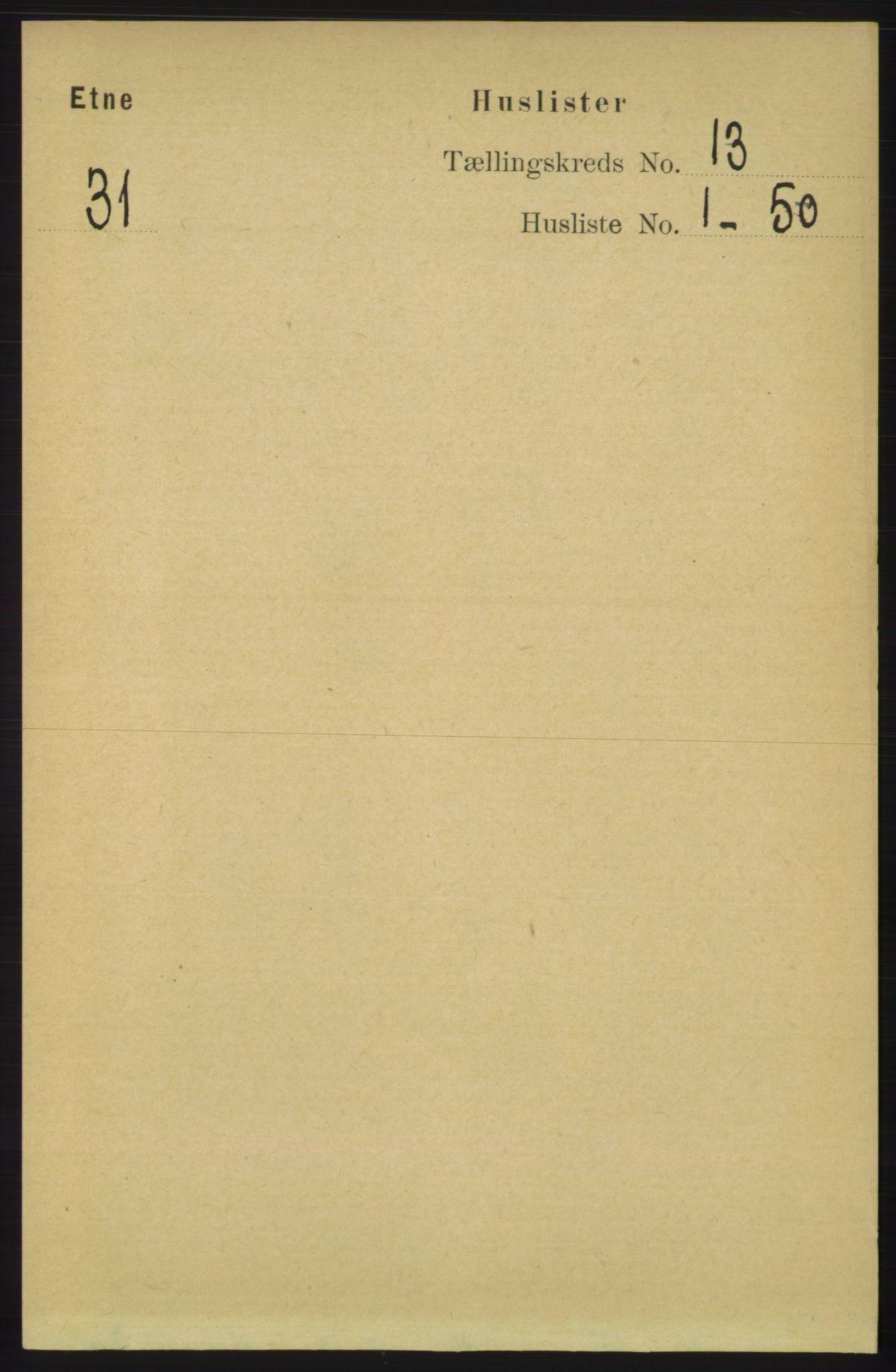 RA, Folketelling 1891 for 1211 Etne herred, 1891, s. 2686