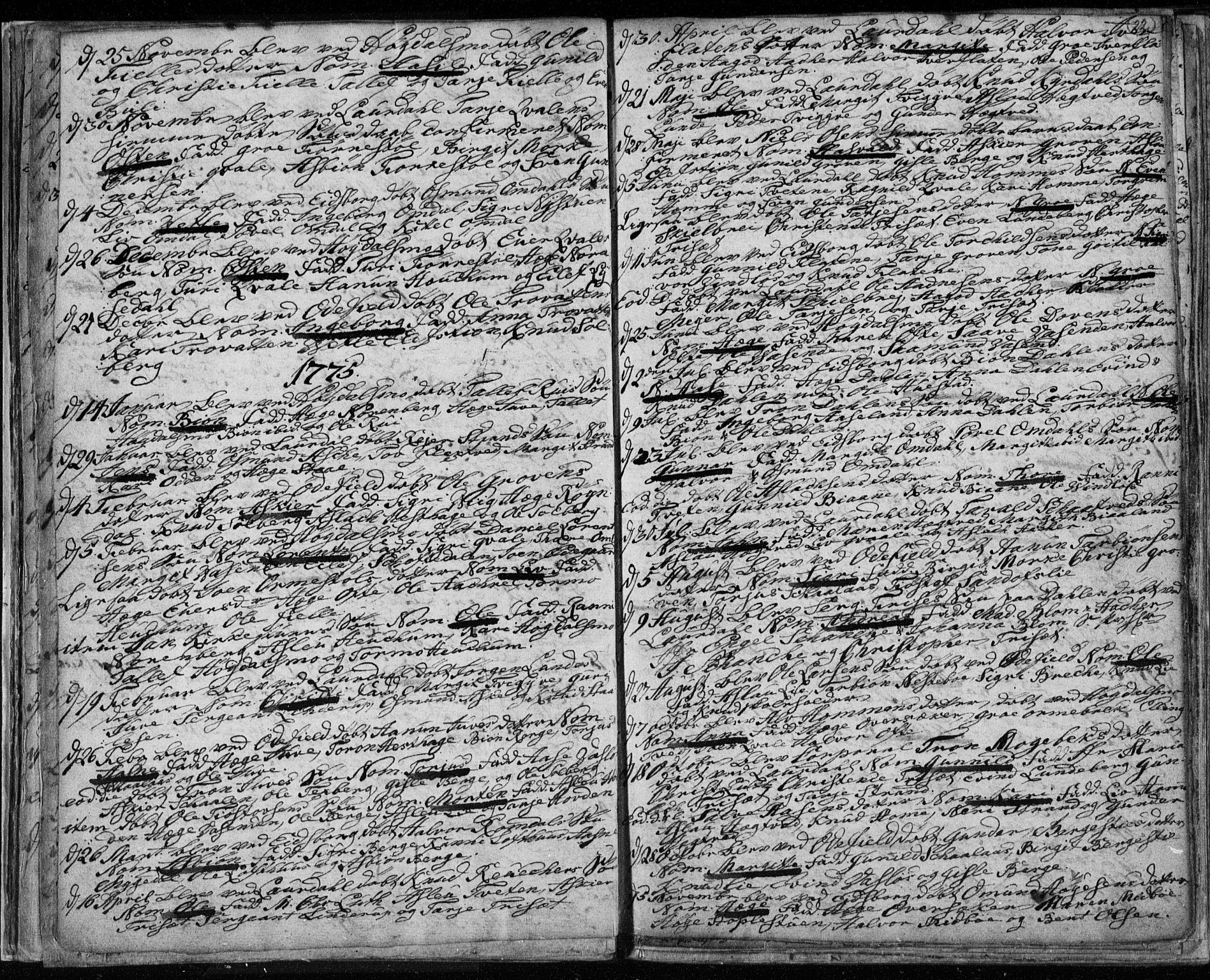 SAKO, Lårdal kirkebøker, F/Fa/L0003: Ministerialbok nr. I 3, 1754-1790, s. 22