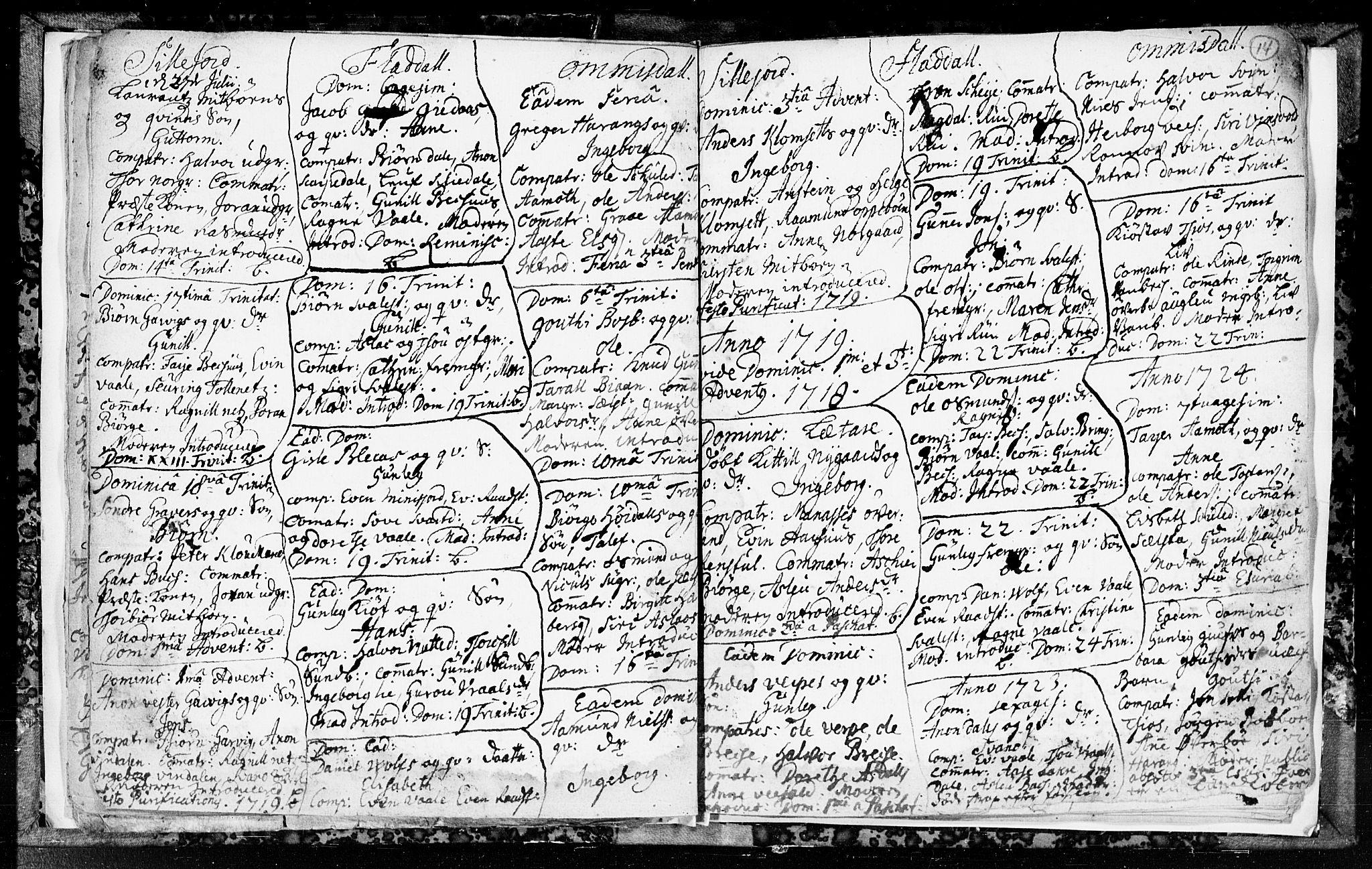 SAKO, Seljord kirkebøker, F/Fa/L0003: Ministerialbok nr. I 3, 1714-1725, s. 14