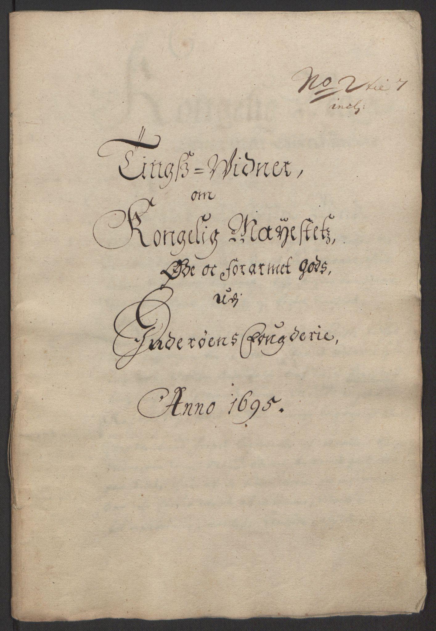 RA, Rentekammeret inntil 1814, Reviderte regnskaper, Fogderegnskap, R63/L4309: Fogderegnskap Inderøy, 1695-1697, s. 79