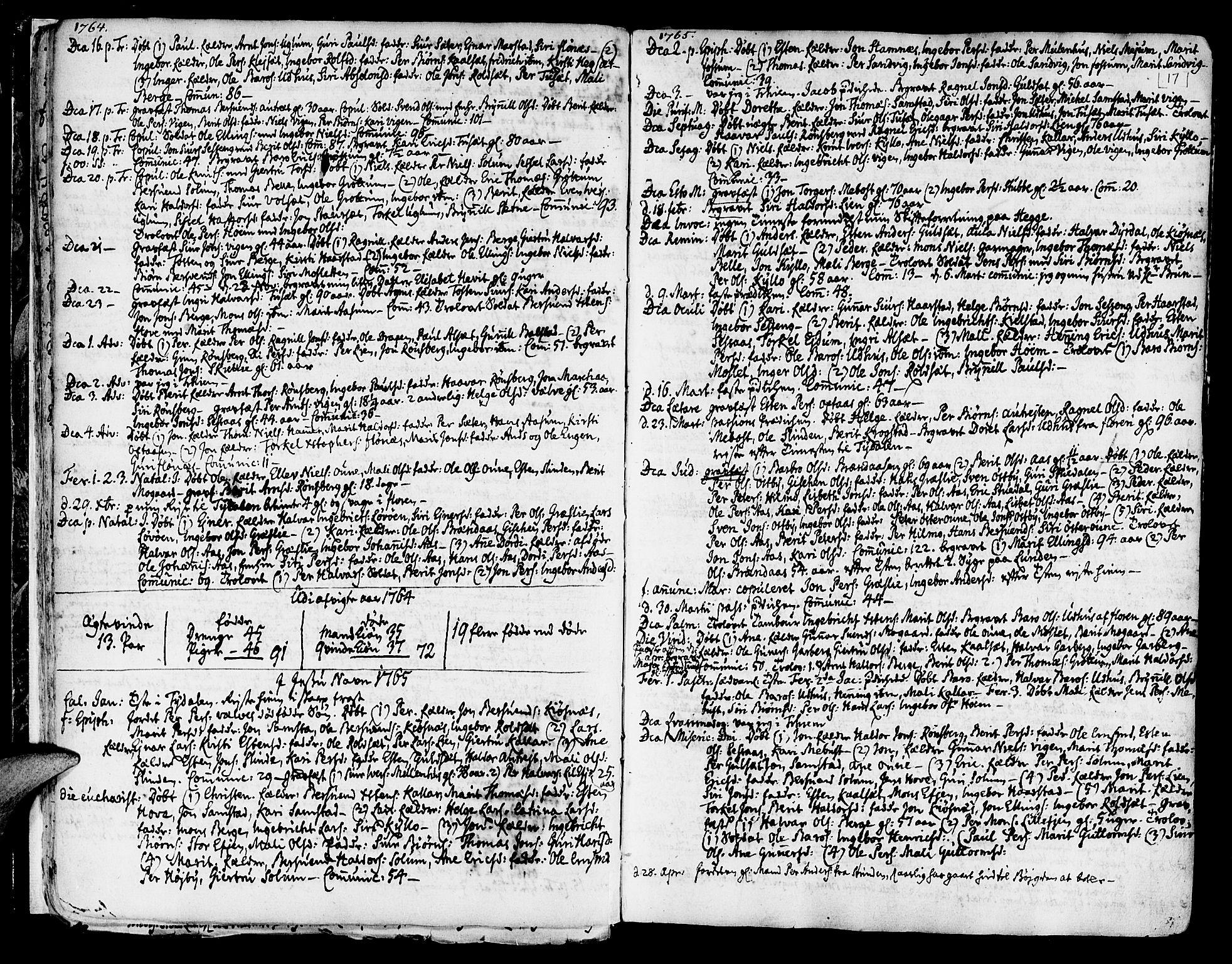 SAT, Ministerialprotokoller, klokkerbøker og fødselsregistre - Sør-Trøndelag, 695/L1138: Ministerialbok nr. 695A02 /1, 1757-1801, s. 17