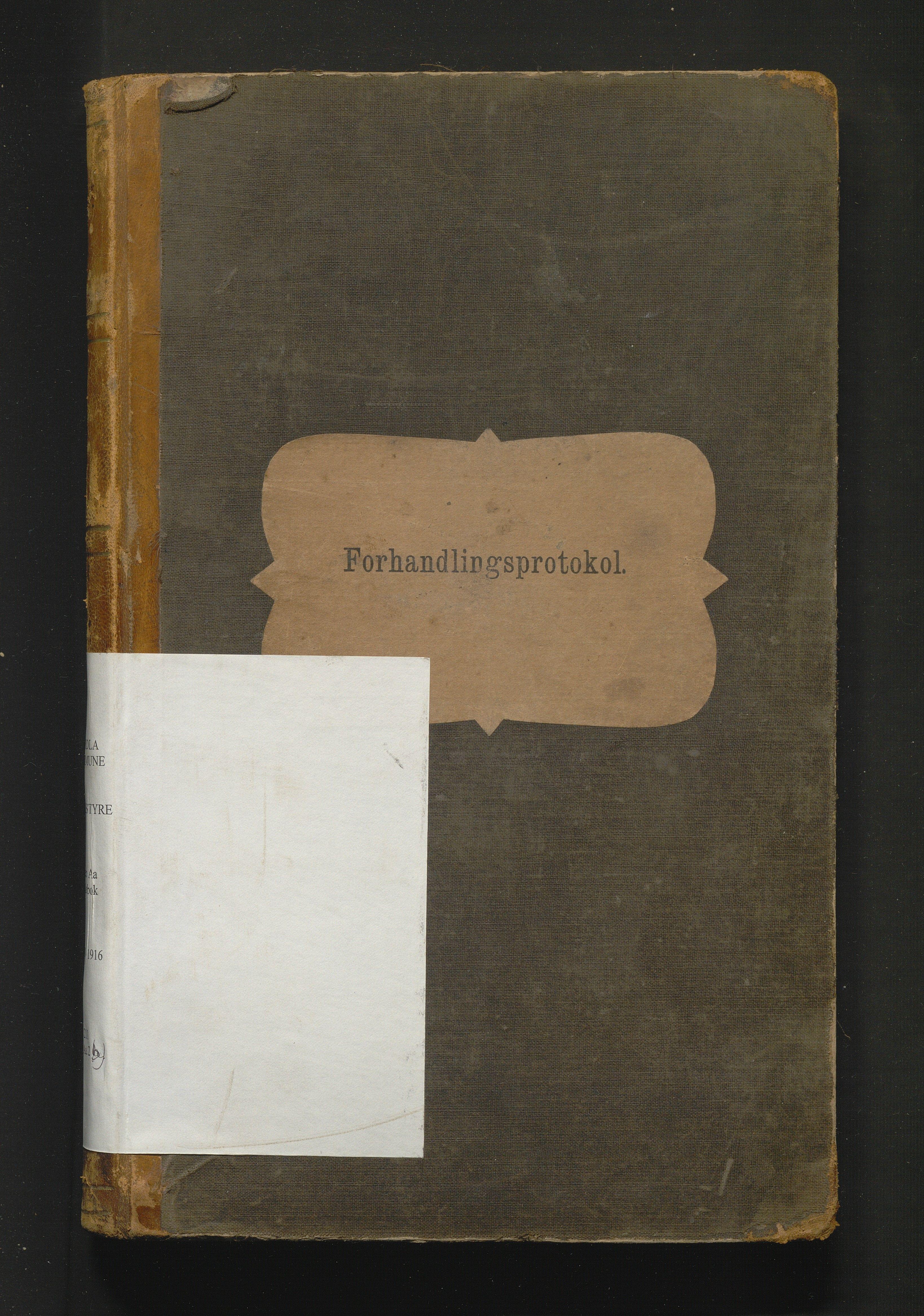 IKAH, Herdla kommune. Skulestyret, A/Aa/L0001B: Møtebok, 1889-1916
