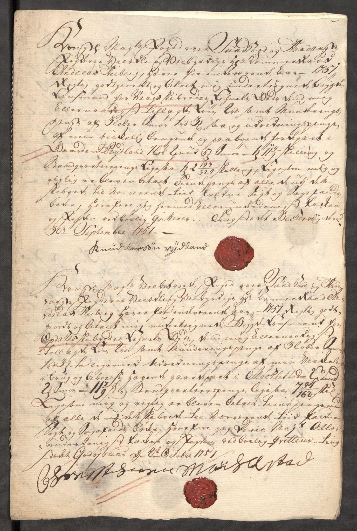 RA, Rentekammeret inntil 1814, Reviderte regnskaper, Fogderegnskap, R48/L3056: Fogderegnskap Sunnhordland og Hardanger, 1751, s. 316