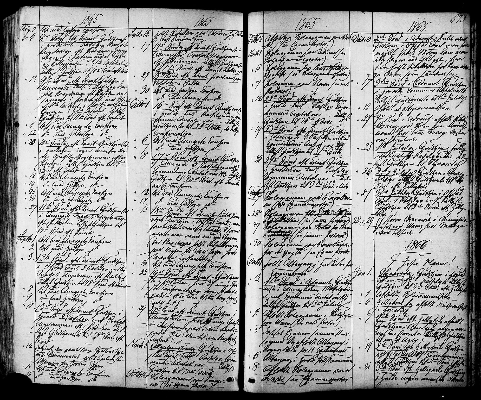 SAT, Ministerialprotokoller, klokkerbøker og fødselsregistre - Sør-Trøndelag, 665/L0772: Ministerialbok nr. 665A07, 1856-1878, s. 573