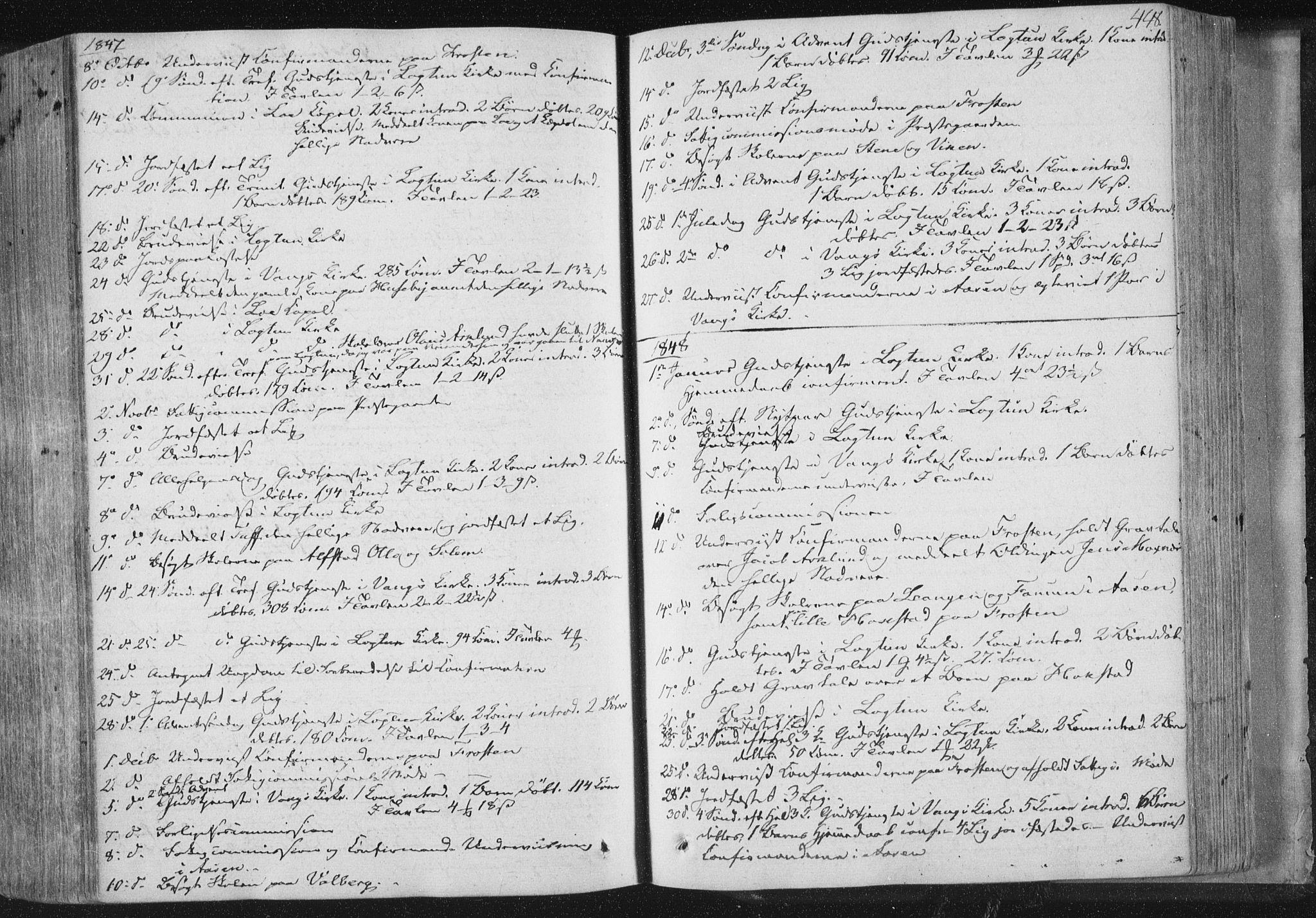 SAT, Ministerialprotokoller, klokkerbøker og fødselsregistre - Nord-Trøndelag, 713/L0115: Ministerialbok nr. 713A06, 1838-1851, s. 448