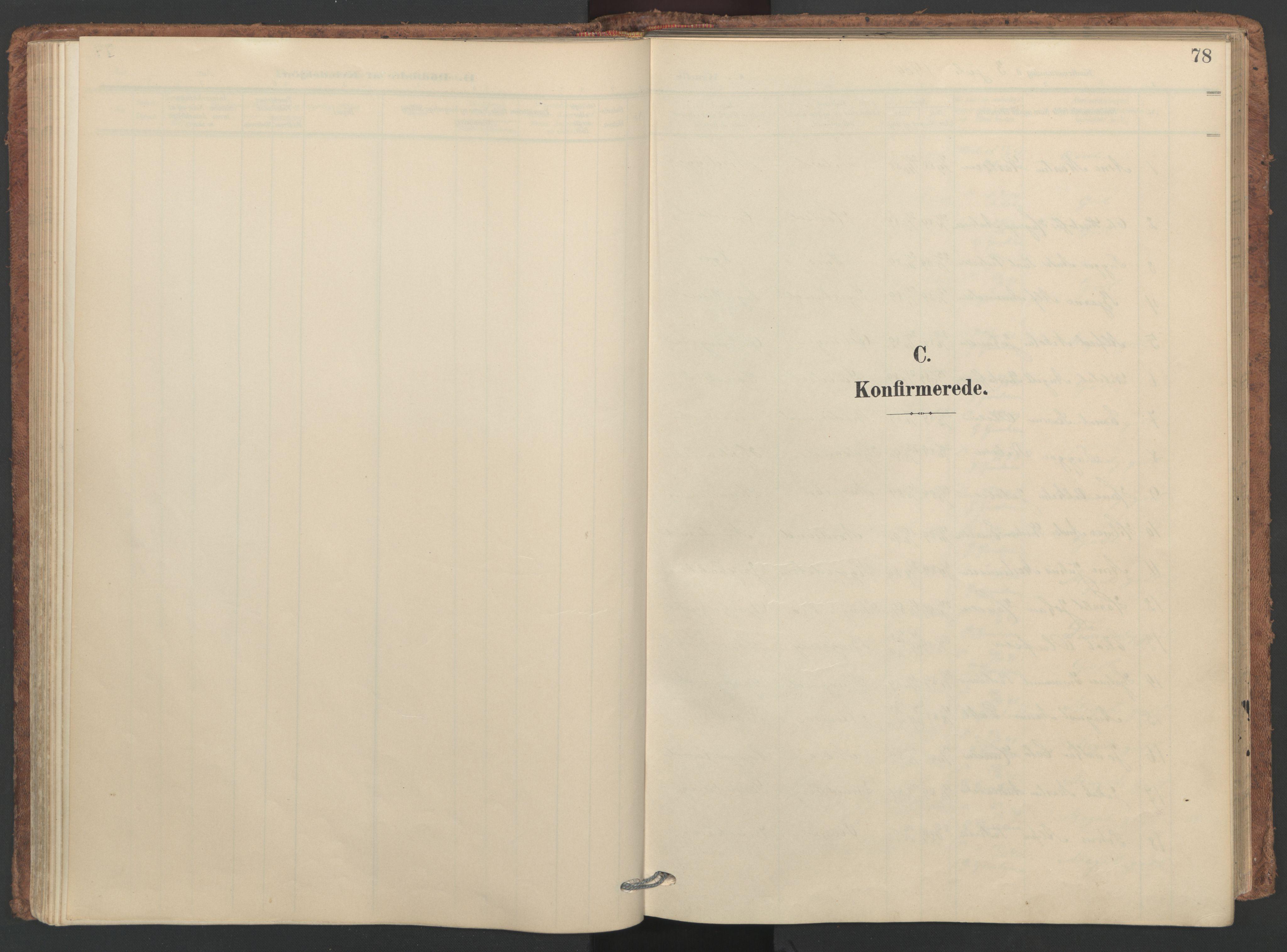 SAT, Ministerialprotokoller, klokkerbøker og fødselsregistre - Nordland, 893/L1339: Ministerialbok nr. 893A11, 1904-1914, s. 78