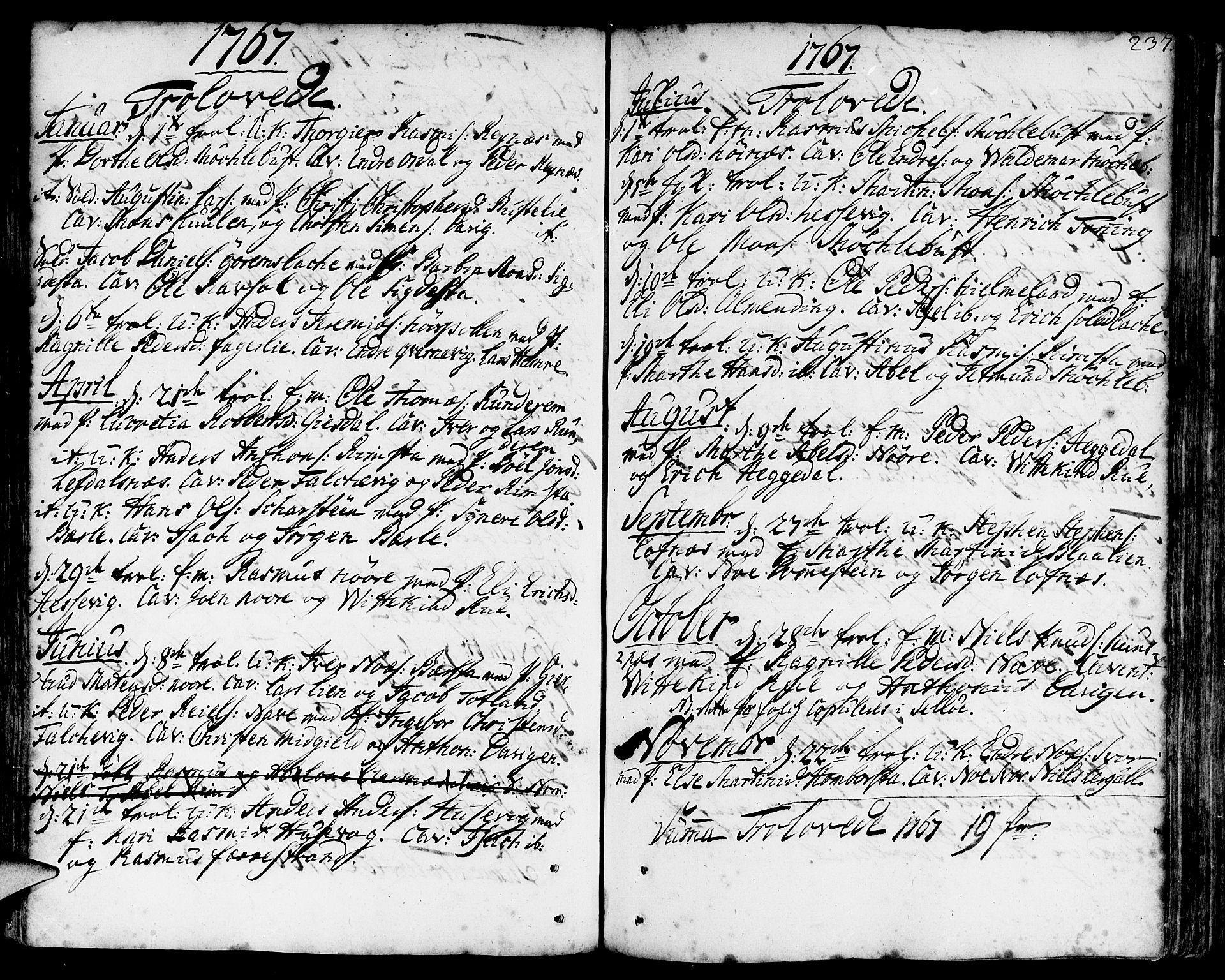 SAB, Davik Sokneprestembete, Ministerialbok nr. A 2, 1742-1816, s. 237