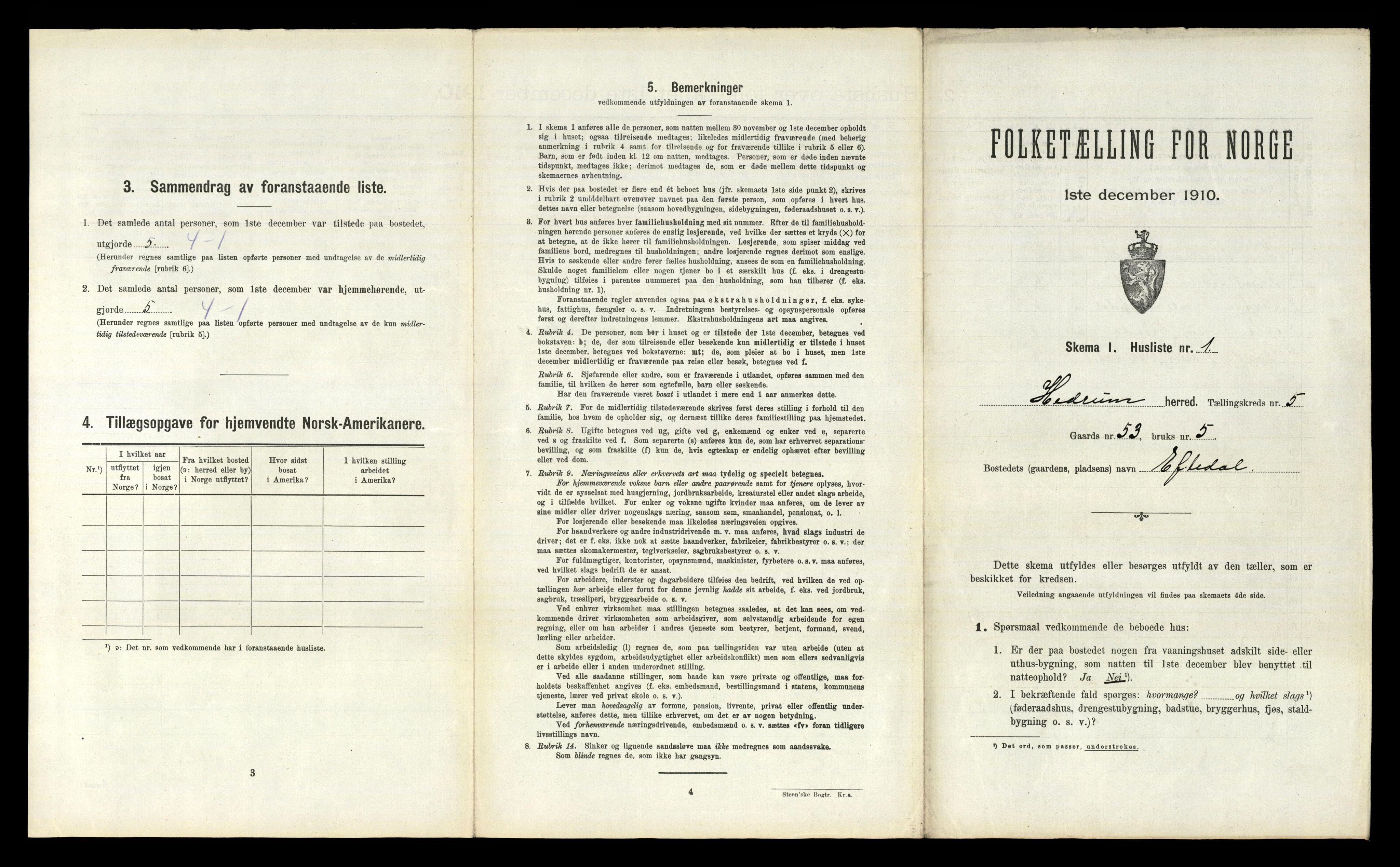 RA, Folketelling 1910 for 0727 Hedrum herred, 1910, s. 626