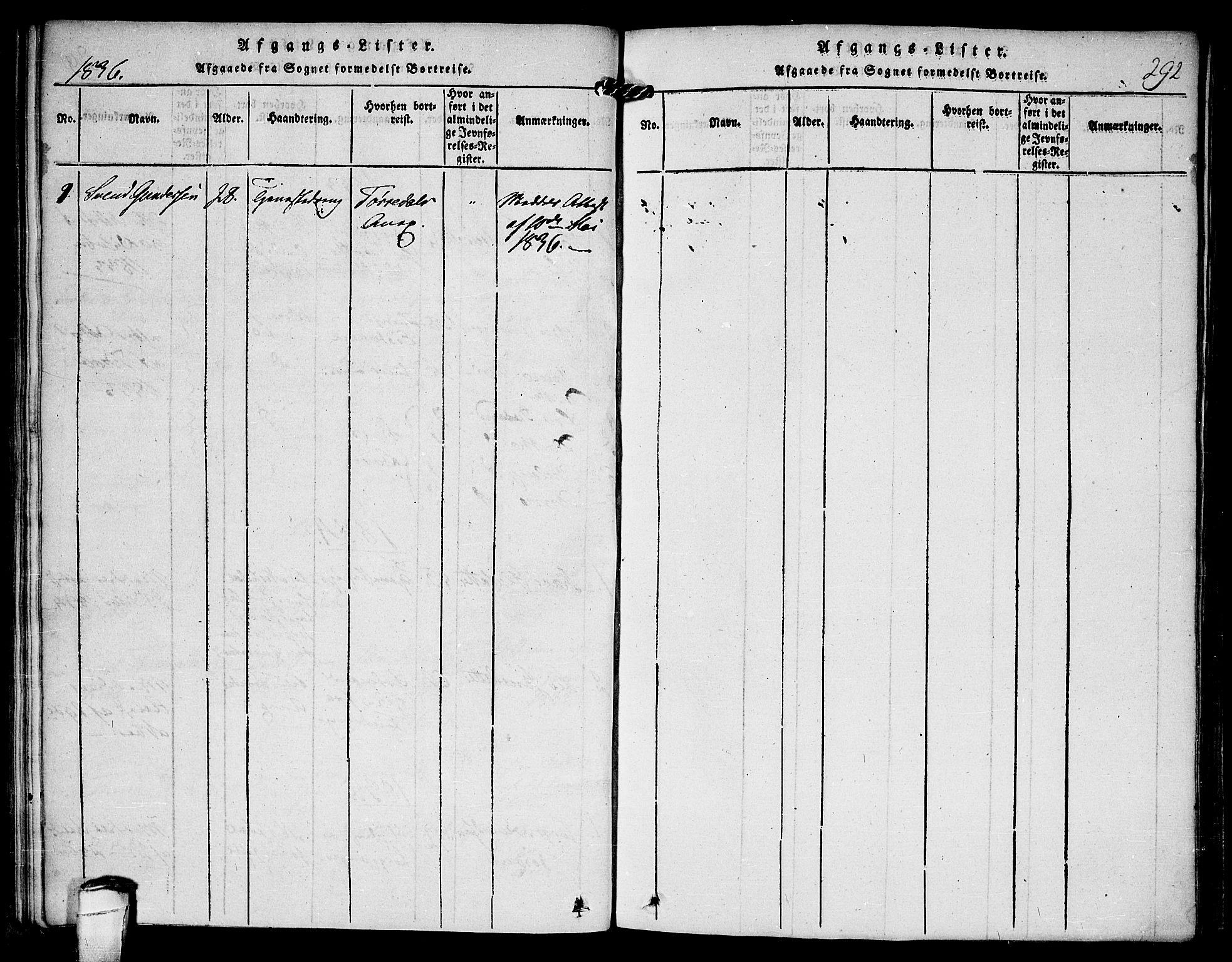 SAKO, Kviteseid kirkebøker, F/Fc/L0001: Ministerialbok nr. III 1, 1815-1836, s. 292