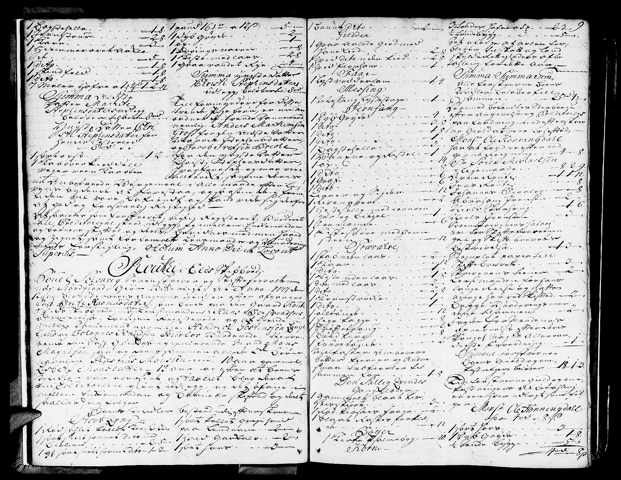 SAB, Nordfjord Sorenskriveri, 04/04a/L0010: Skifteprotokollar, 1747-1750, s. 8b-9a