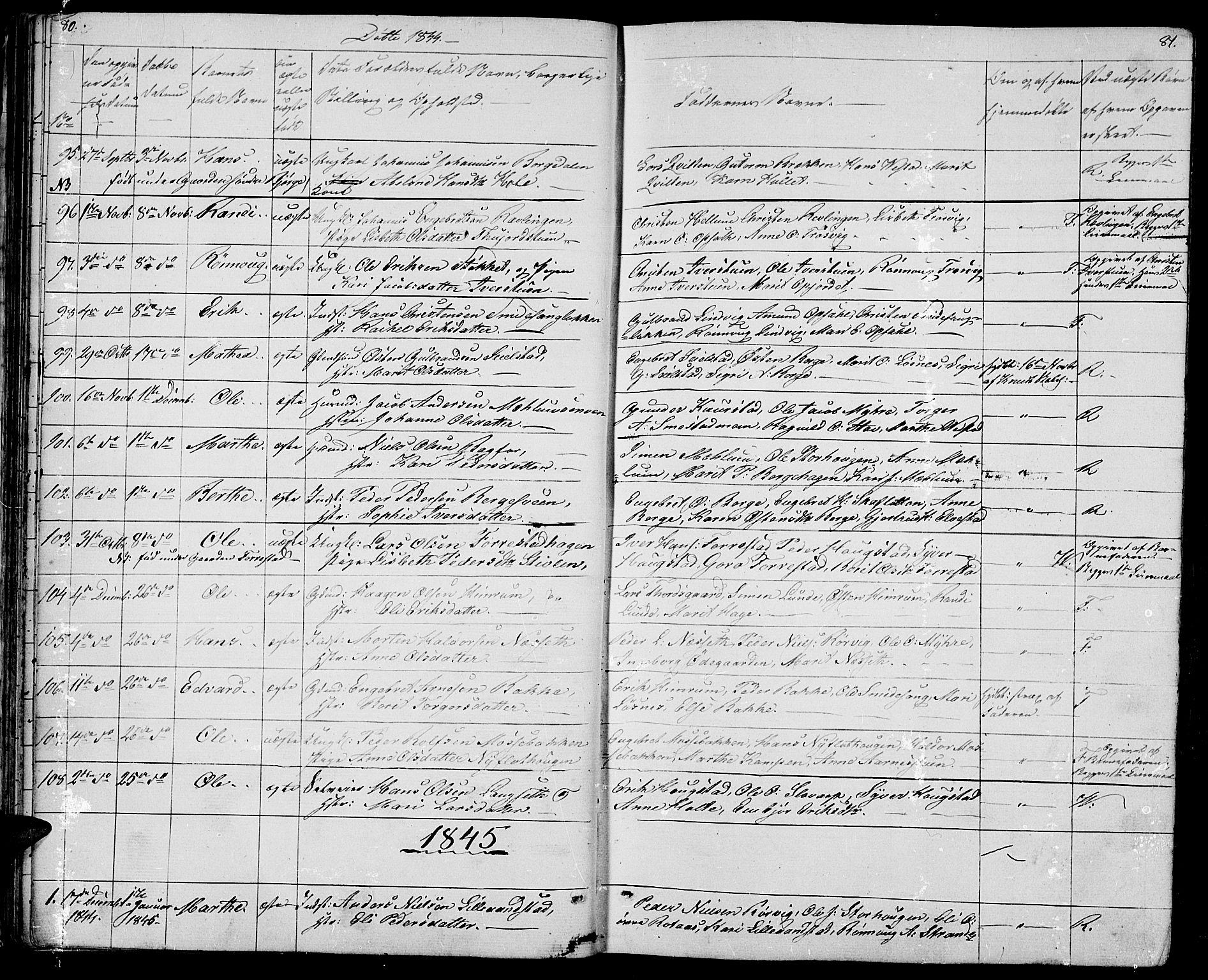SAH, Ringebu prestekontor, Klokkerbok nr. 2, 1839-1853, s. 80-81