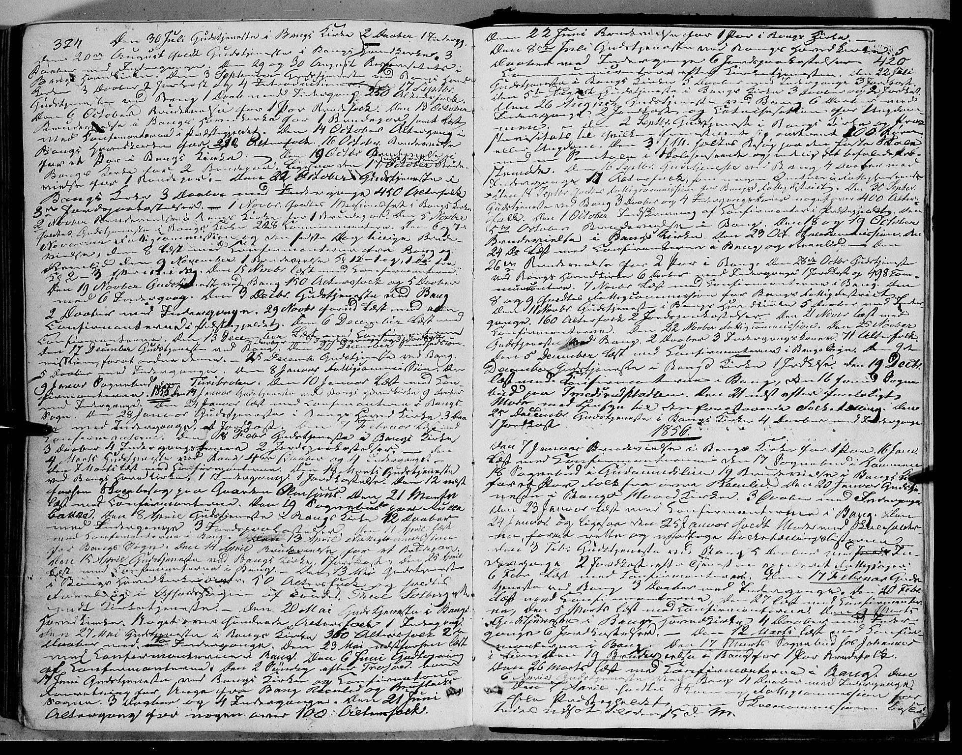 SAH, Sør-Aurdal prestekontor, Ministerialbok nr. 5, 1849-1876, s. 324