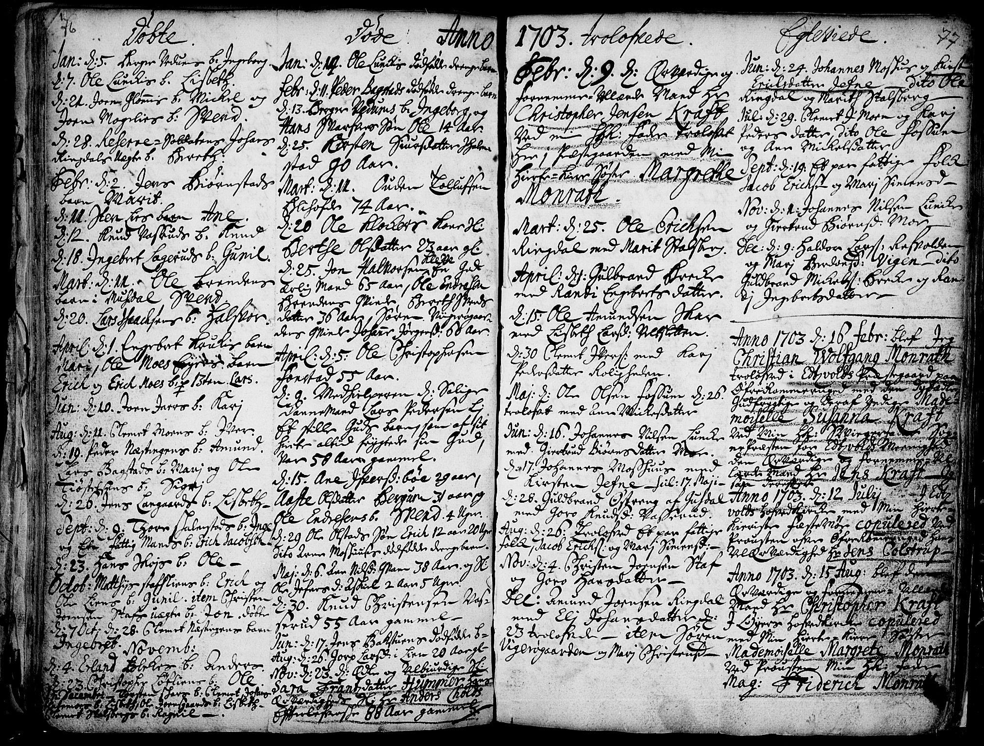 SAH, Øyer prestekontor, Ministerialbok nr. 1, 1671-1727, s. 76-77