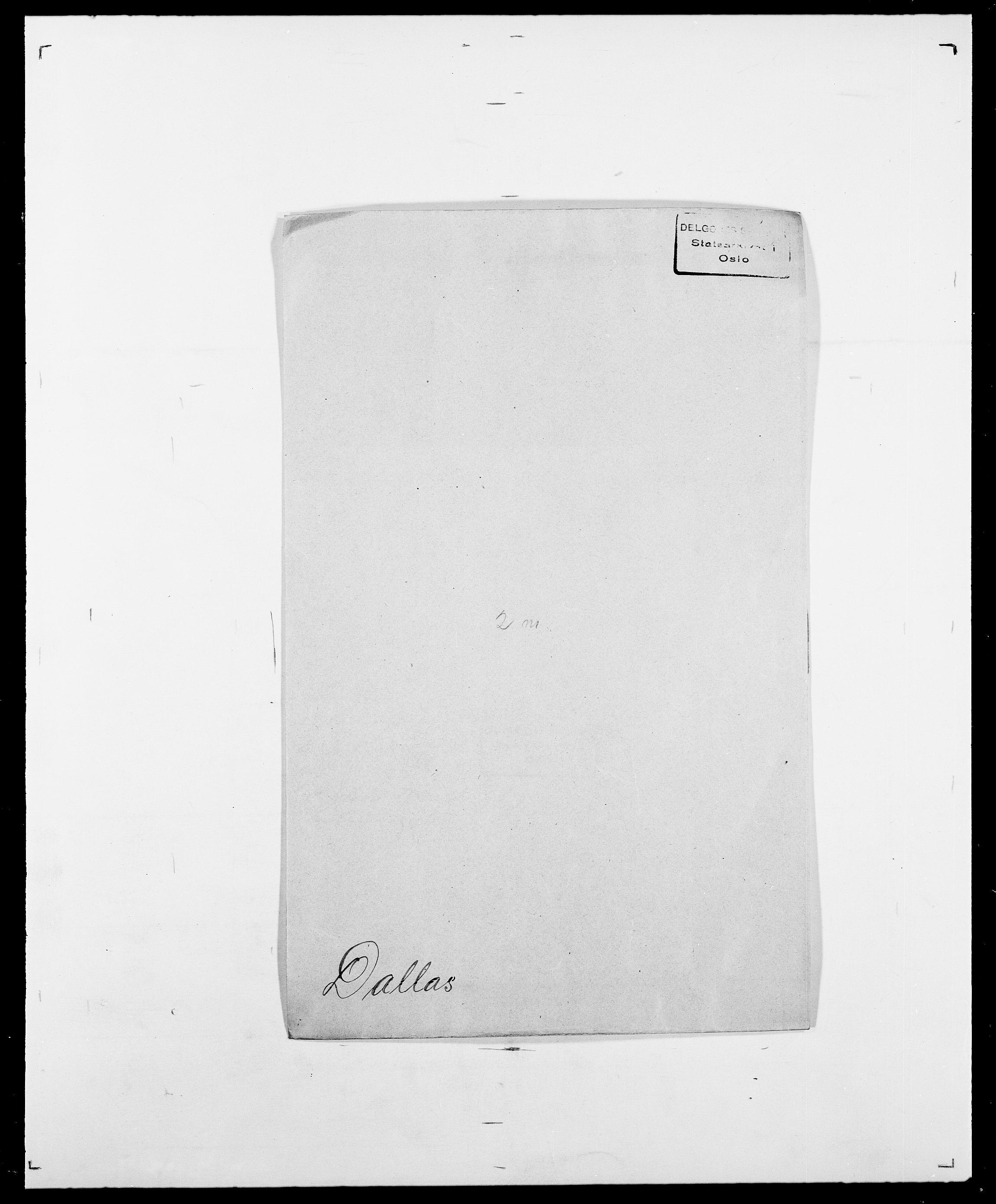 SAO, Delgobe, Charles Antoine - samling, D/Da/L0009: Dahl - v. Düren, s. 258