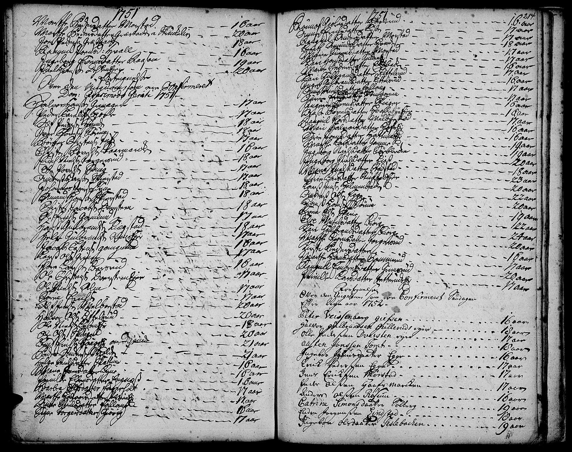 SAH, Gran prestekontor, Ministerialbok nr. 3, 1745-1758, s. 214