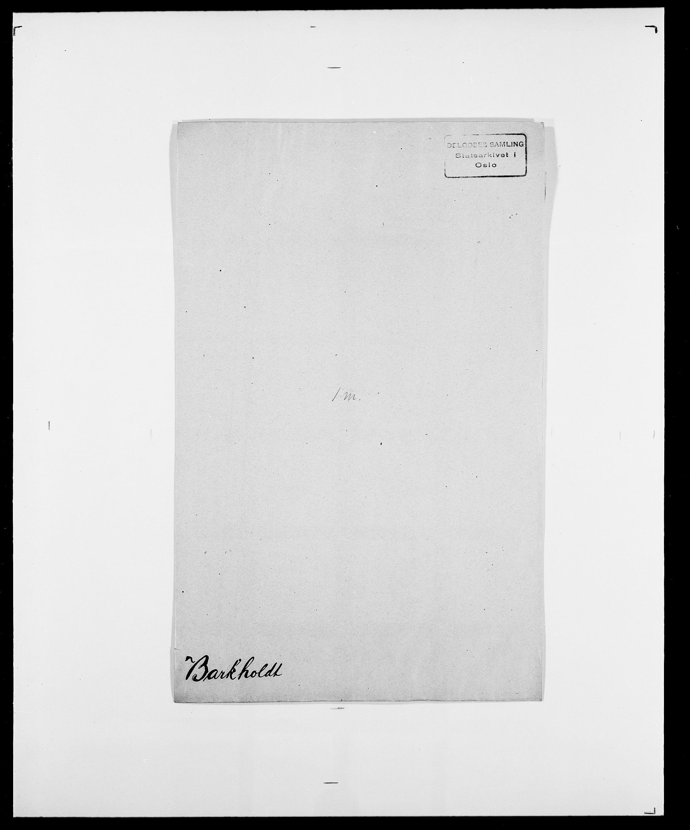 SAO, Delgobe, Charles Antoine - samling, D/Da/L0003: Barca - Bergen, s. 345