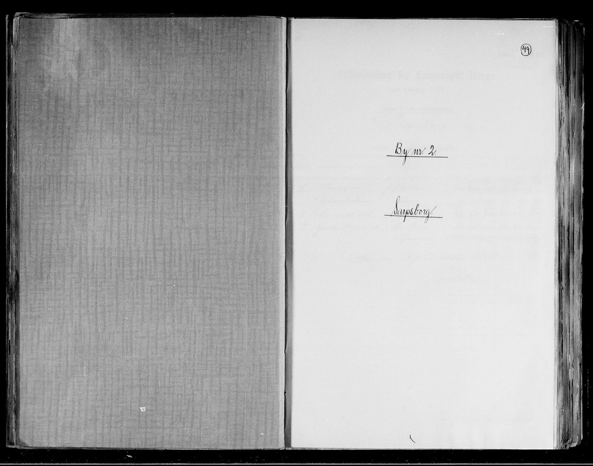 RA, Folketelling 1891 for 0102 Sarpsborg kjøpstad, 1891, s. 1