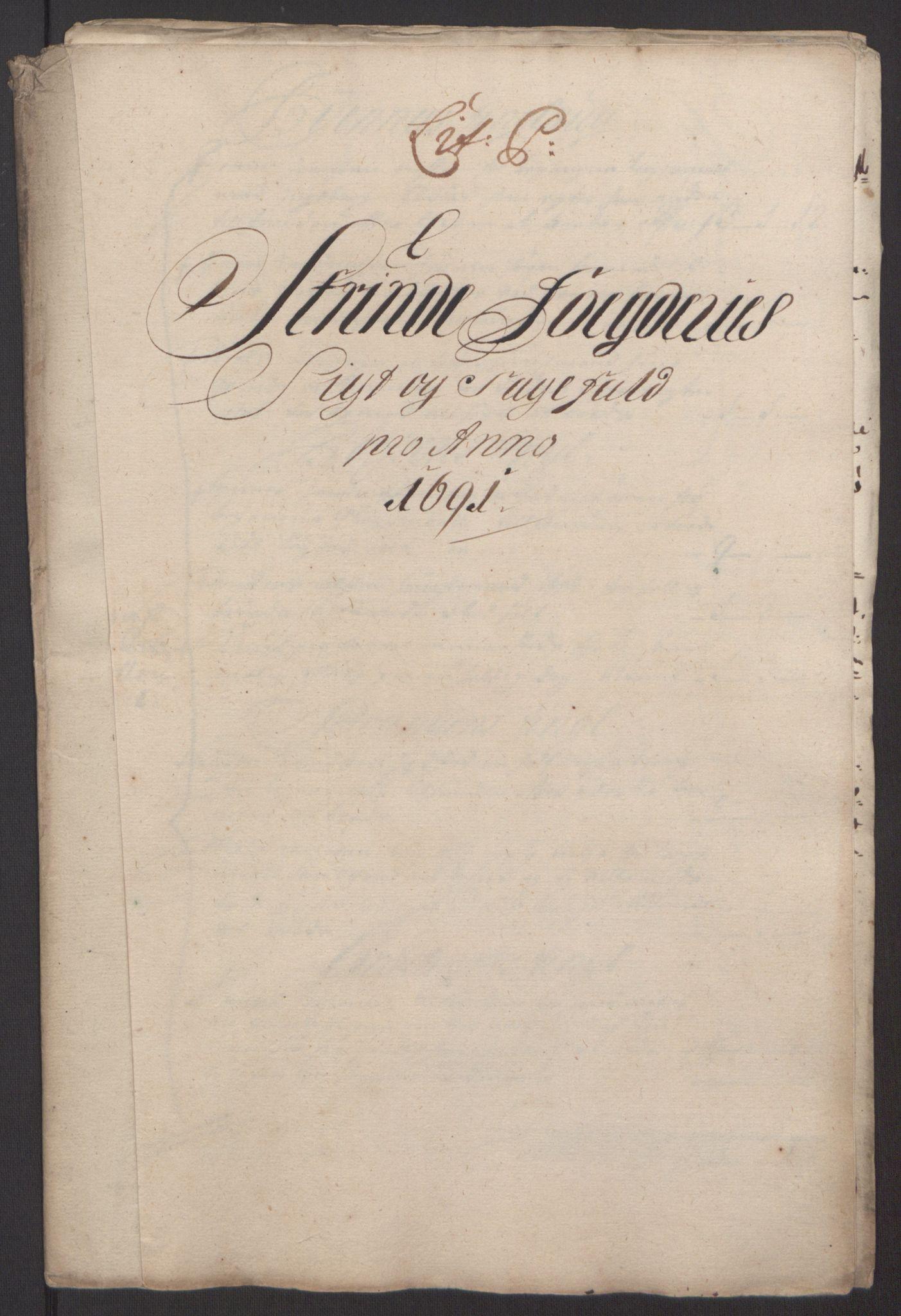 RA, Rentekammeret inntil 1814, Reviderte regnskaper, Fogderegnskap, R61/L4103: Fogderegnskap Strinda og Selbu, 1691-1692, s. 144
