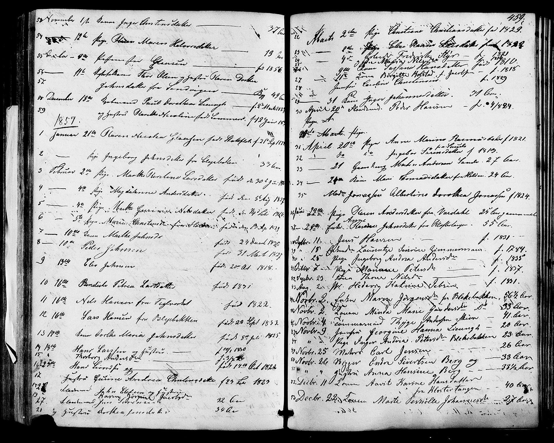 SAKO, Skien kirkebøker, F/Fa/L0007: Ministerialbok nr. 7, 1856-1865, s. 459