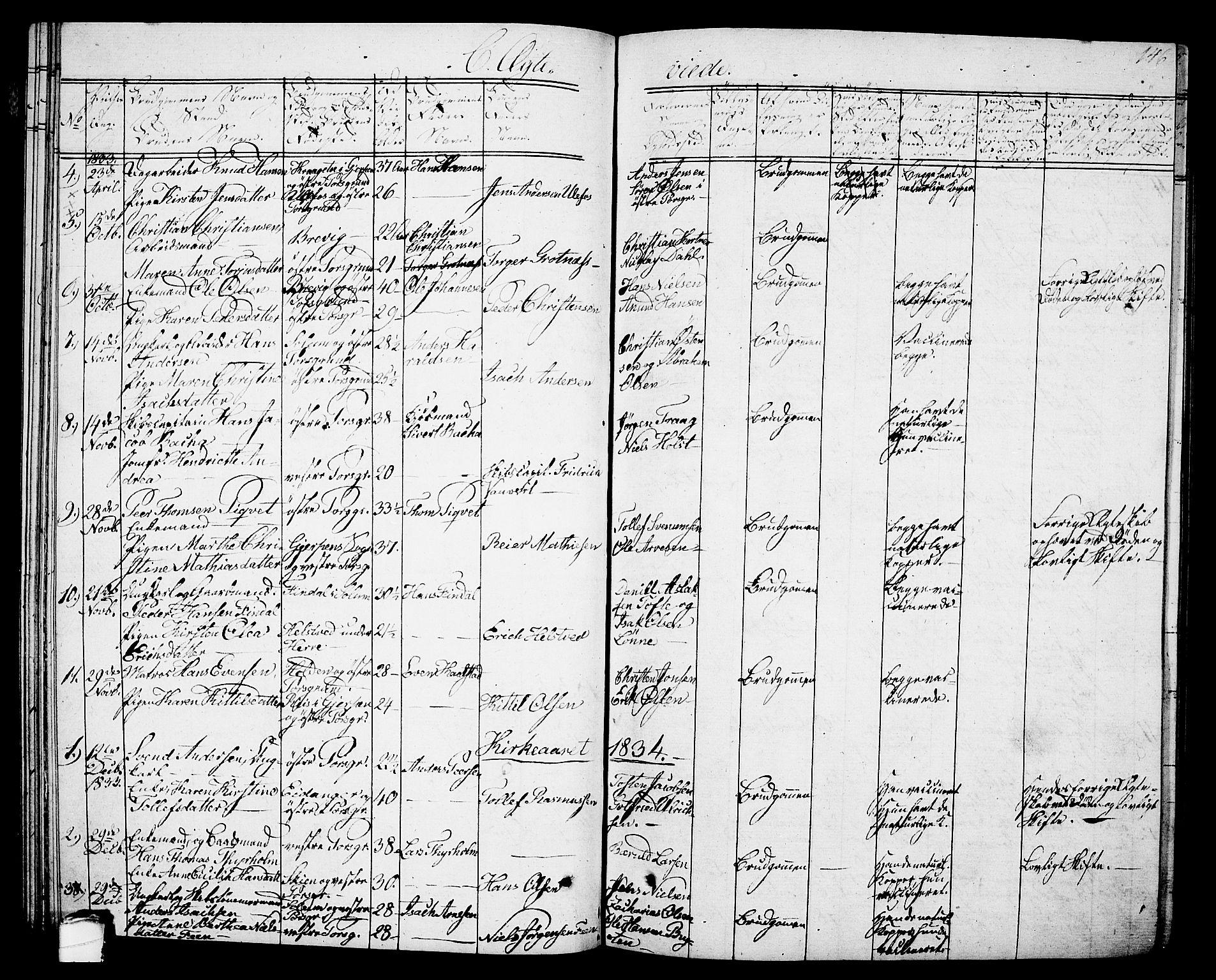 SAKO, Porsgrunn kirkebøker , G/Gb/L0002: Klokkerbok nr. II 2, 1828-1841, s. 146