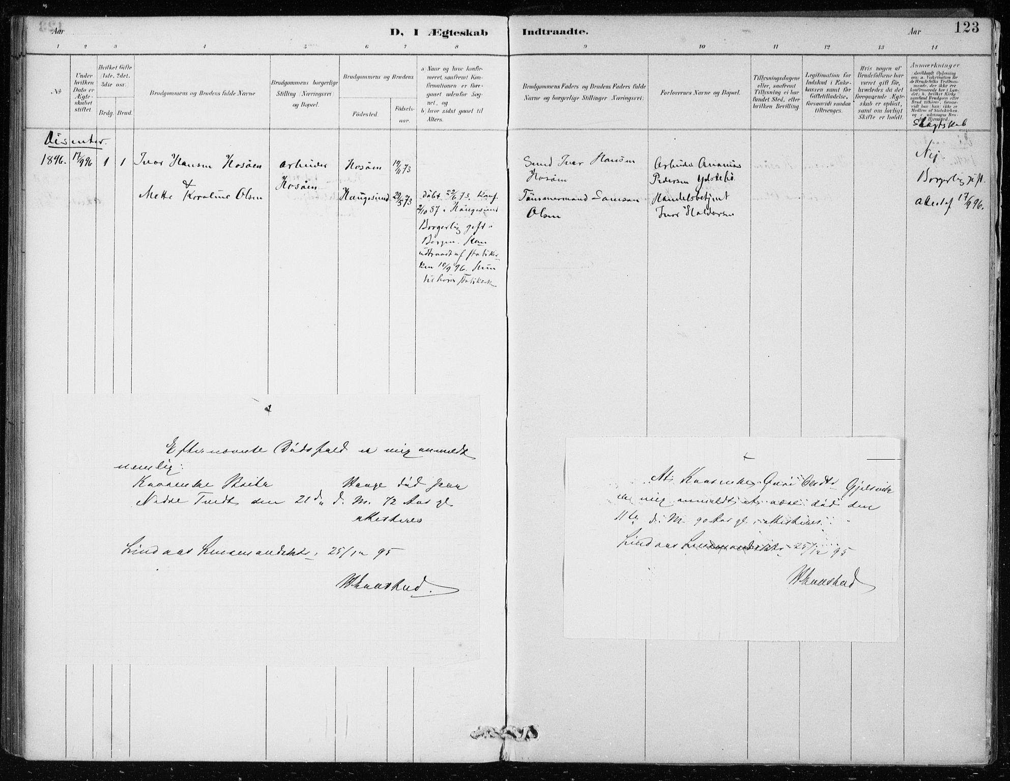 SAB, Lindås Sokneprestembete, H/Haa: Ministerialbok nr. F  1, 1886-1897, s. 123
