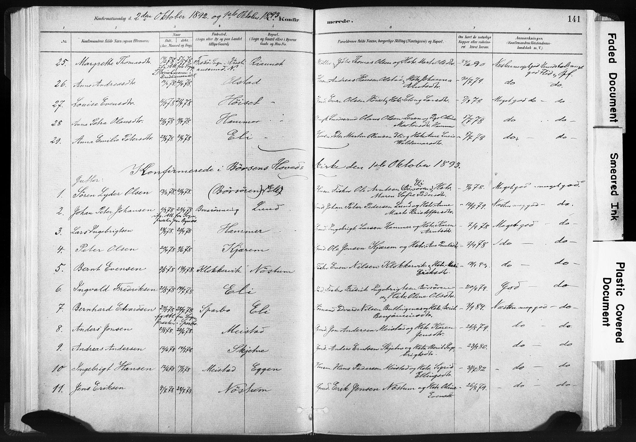 SAT, Ministerialprotokoller, klokkerbøker og fødselsregistre - Sør-Trøndelag, 665/L0773: Ministerialbok nr. 665A08, 1879-1905, s. 141