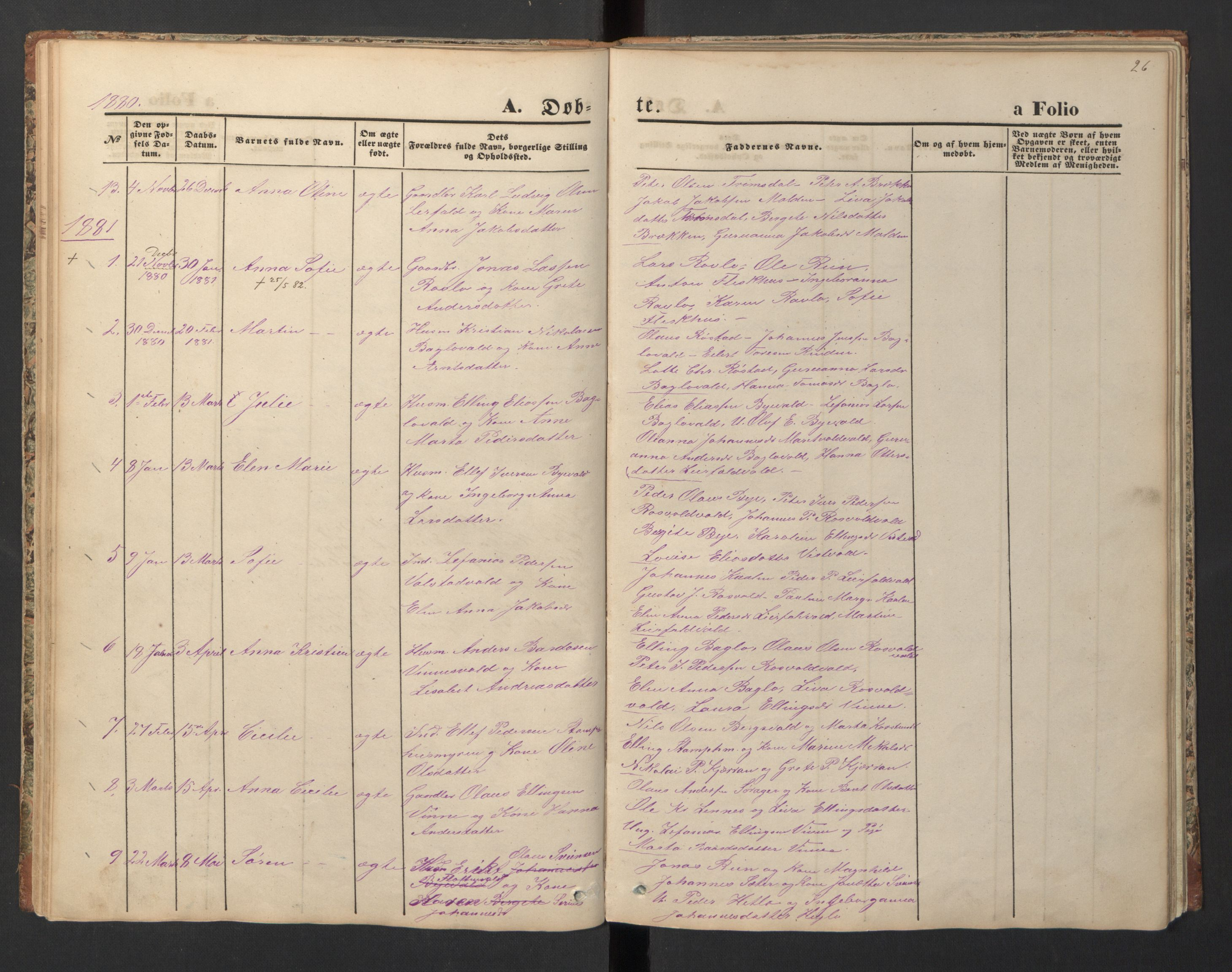 SAT, Ministerialprotokoller, klokkerbøker og fødselsregistre - Nord-Trøndelag, 726/L0271: Klokkerbok nr. 726C02, 1869-1897, s. 26