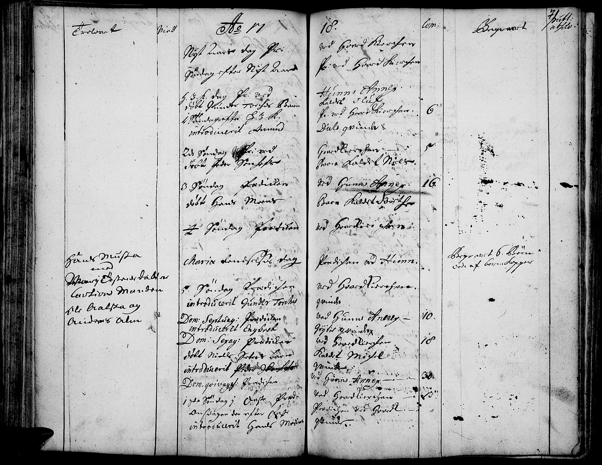 SAH, Vardal prestekontor, H/Ha/Haa/L0001: Ministerialbok nr. 1, 1706-1748, s. 71