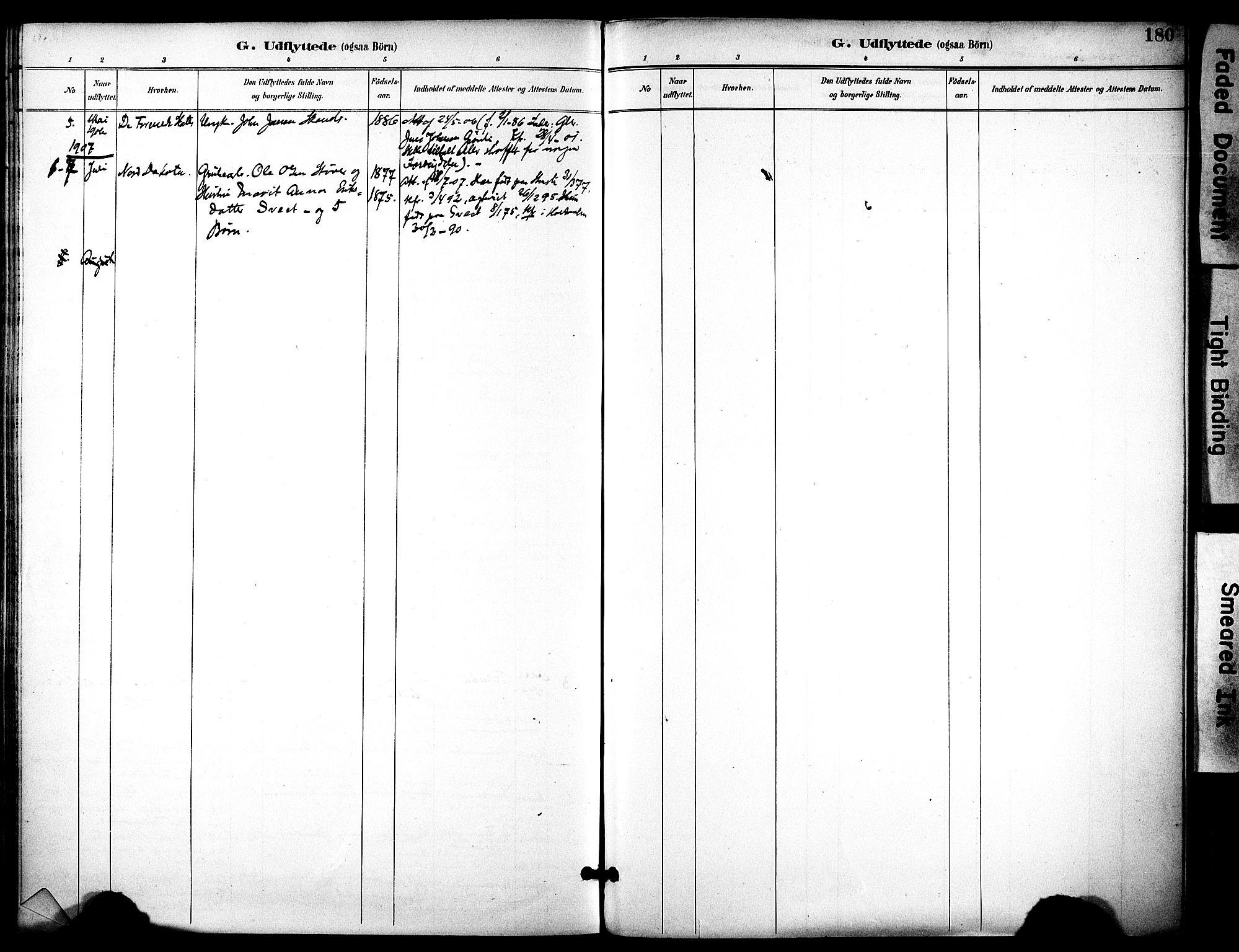 SAT, Ministerialprotokoller, klokkerbøker og fødselsregistre - Sør-Trøndelag, 686/L0984: Ministerialbok nr. 686A02, 1891-1906, s. 180