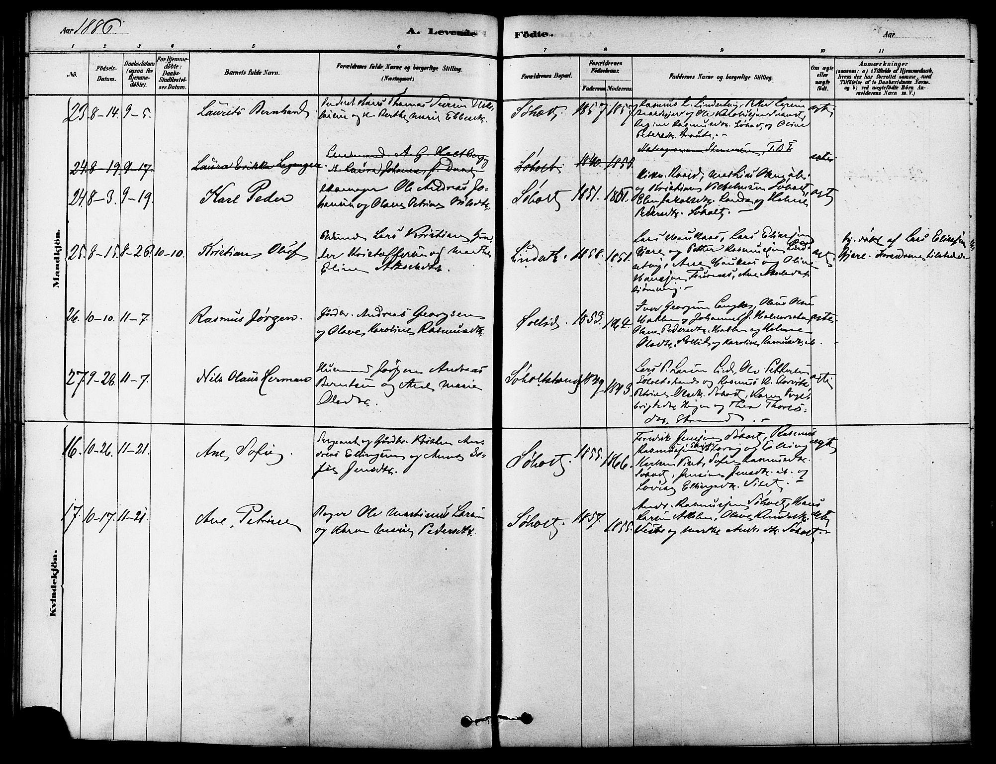 SAT, Ministerialprotokoller, klokkerbøker og fødselsregistre - Møre og Romsdal, 522/L0315: Ministerialbok nr. 522A10, 1878-1890
