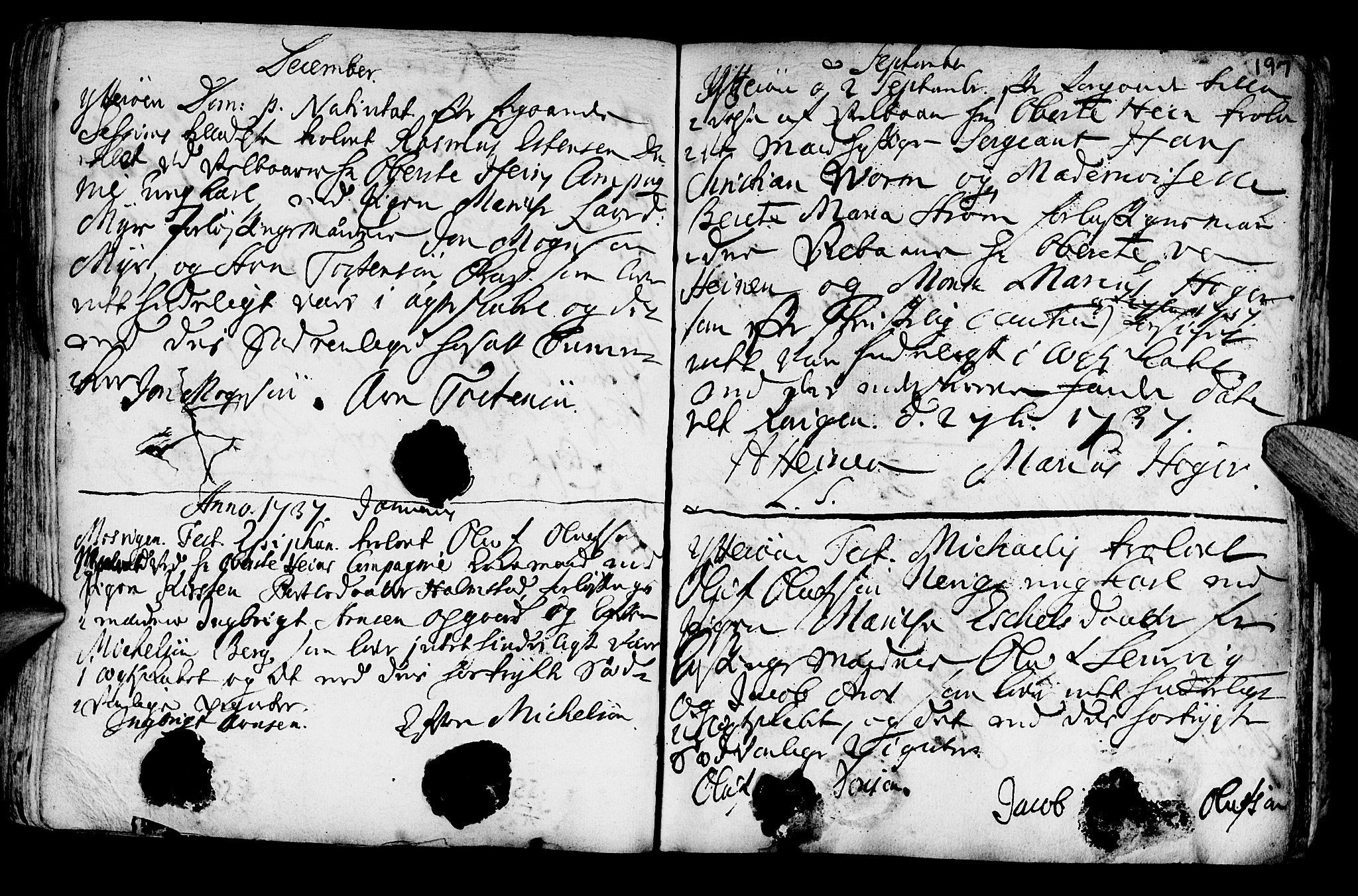SAT, Ministerialprotokoller, klokkerbøker og fødselsregistre - Nord-Trøndelag, 722/L0215: Ministerialbok nr. 722A02, 1718-1755, s. 197