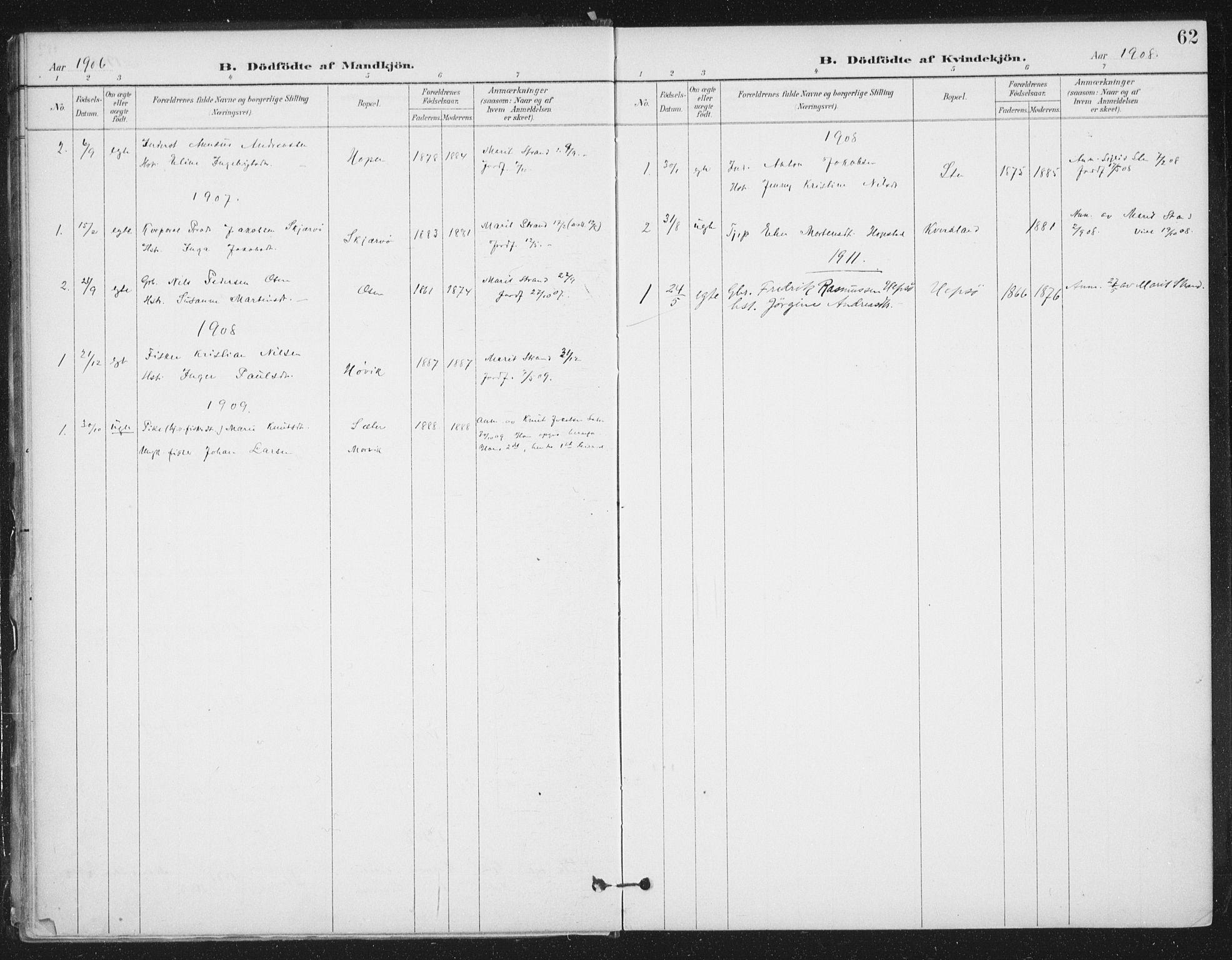 SAT, Ministerialprotokoller, klokkerbøker og fødselsregistre - Sør-Trøndelag, 658/L0723: Ministerialbok nr. 658A02, 1897-1912, s. 62
