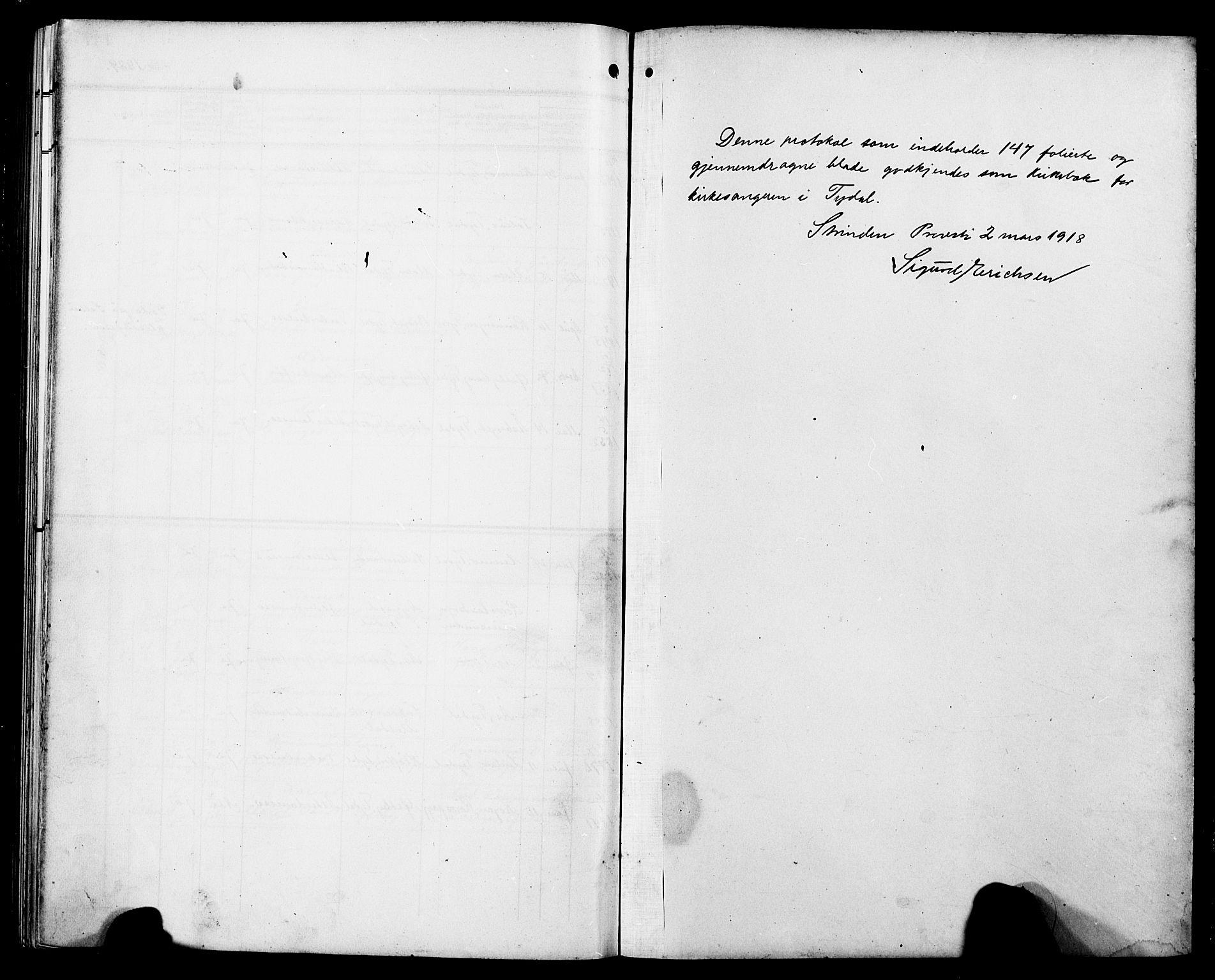 SAT, Ministerialprotokoller, klokkerbøker og fødselsregistre - Sør-Trøndelag, 698/L1168: Klokkerbok nr. 698C05, 1908-1930