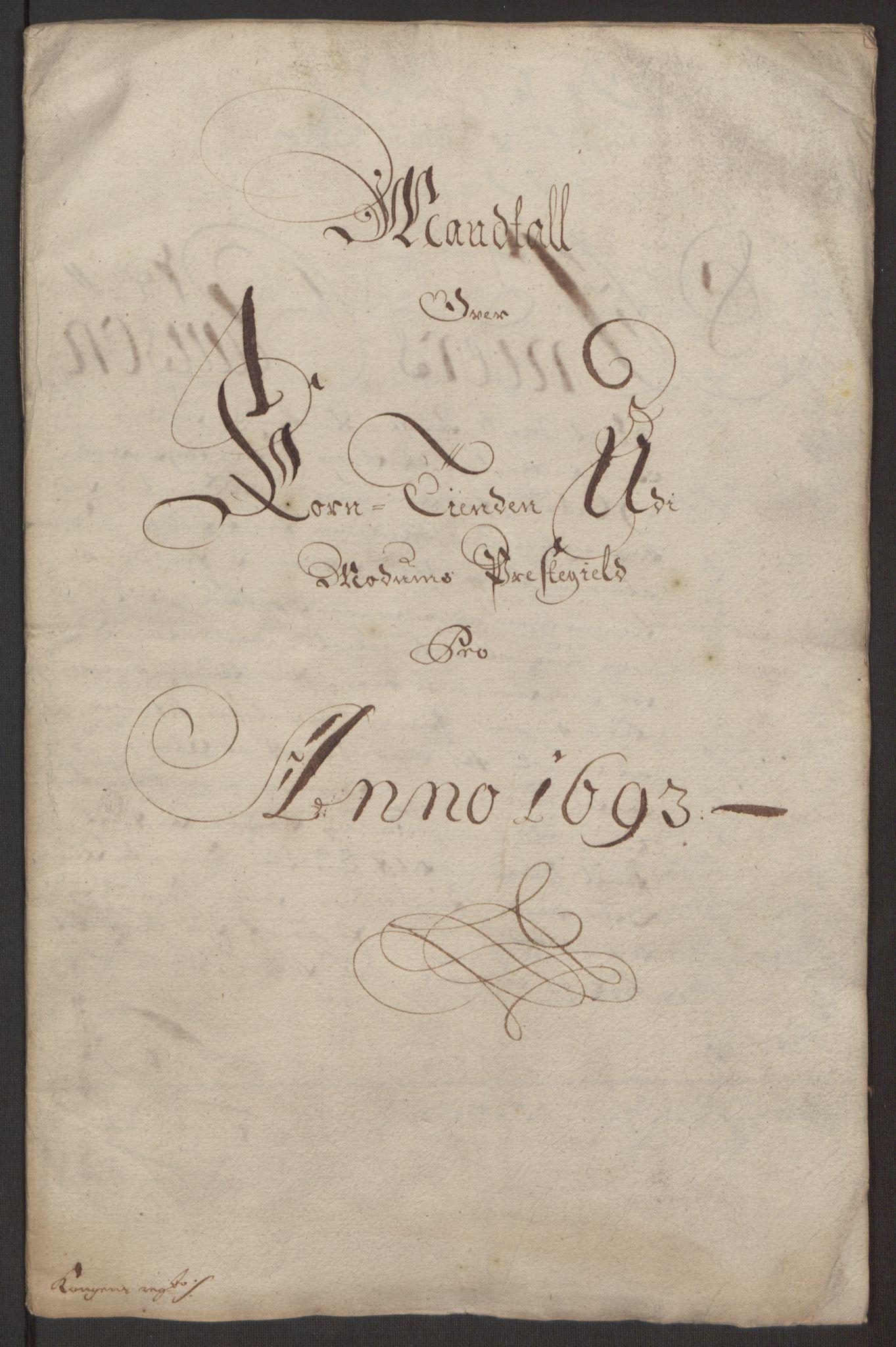 RA, Rentekammeret inntil 1814, Reviderte regnskaper, Fogderegnskap, R25/L1682: Fogderegnskap Buskerud, 1693, s. 21