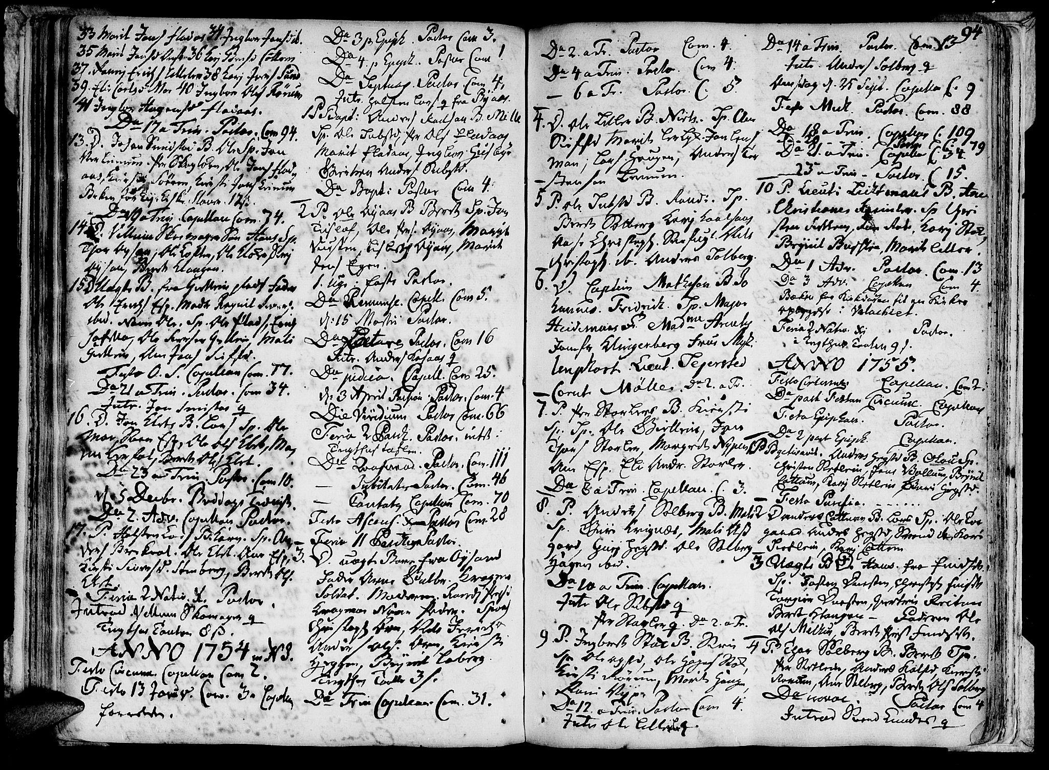 SAT, Ministerialprotokoller, klokkerbøker og fødselsregistre - Sør-Trøndelag, 691/L1059: Ministerialbok nr. 691A01 /3, 1740-1767, s. 94