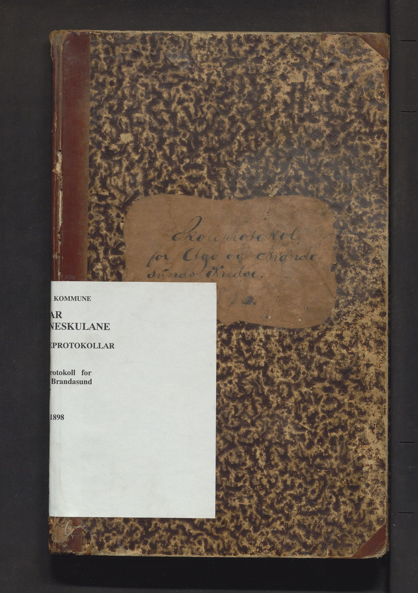 IKAH, Fitjar kommune. Barneskulane, F/Fa/L0014: Skuleprotokoll for Aga og Brandasund krinsar, 1886-1898