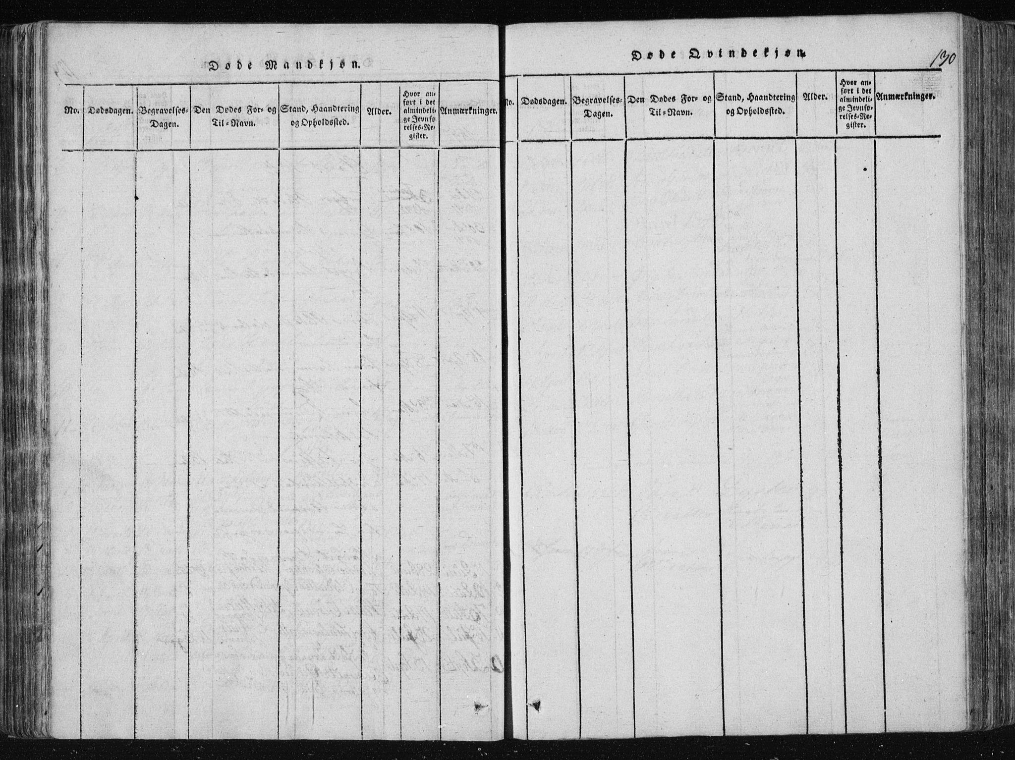 SAKO, Vinje kirkebøker, F/Fa/L0003: Ministerialbok nr. I 3, 1814-1843, s. 130