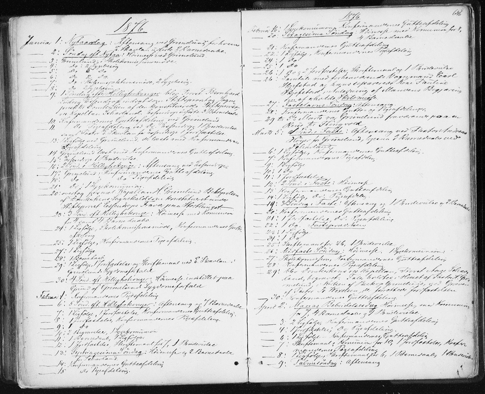 SAT, Ministerialprotokoller, klokkerbøker og fødselsregistre - Sør-Trøndelag, 601/L0055: Ministerialbok nr. 601A23, 1866-1877, s. 646
