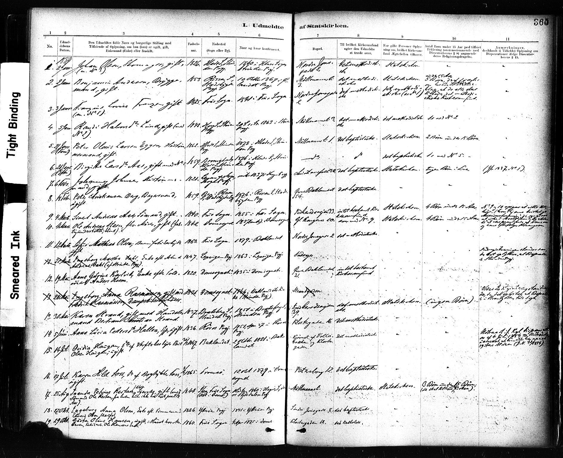 SAT, Ministerialprotokoller, klokkerbøker og fødselsregistre - Sør-Trøndelag, 604/L0189: Ministerialbok nr. 604A10, 1878-1892, s. 365