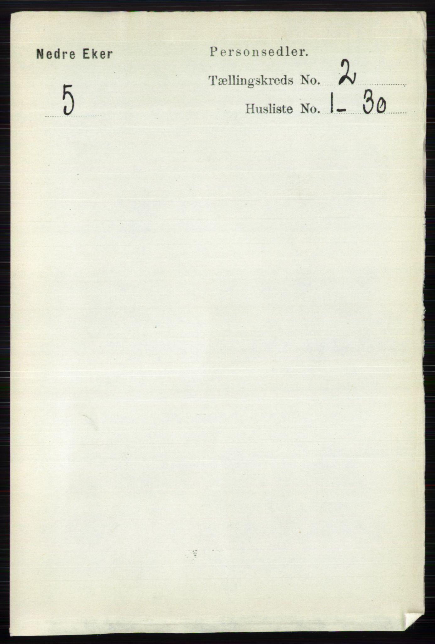 RA, Folketelling 1891 for 0625 Nedre Eiker herred, 1891, s. 541