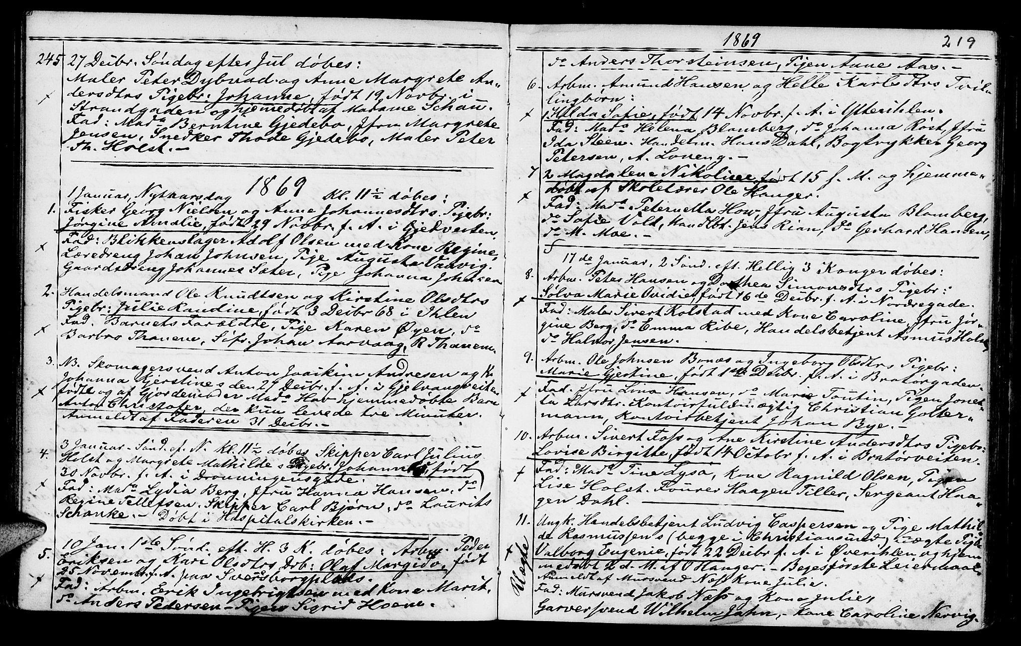 SAT, Ministerialprotokoller, klokkerbøker og fødselsregistre - Sør-Trøndelag, 602/L0140: Klokkerbok nr. 602C08, 1864-1872, s. 218-219