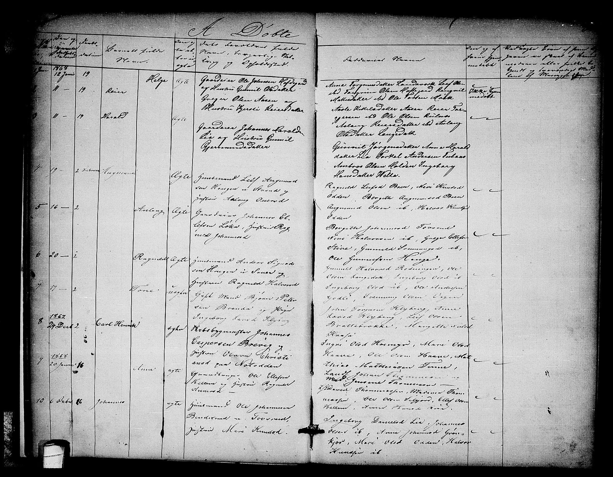 SAKO, Heddal kirkebøker, G/Ga/L0001: Klokkerbok nr. I 1, 1866-1878, s. 30-31