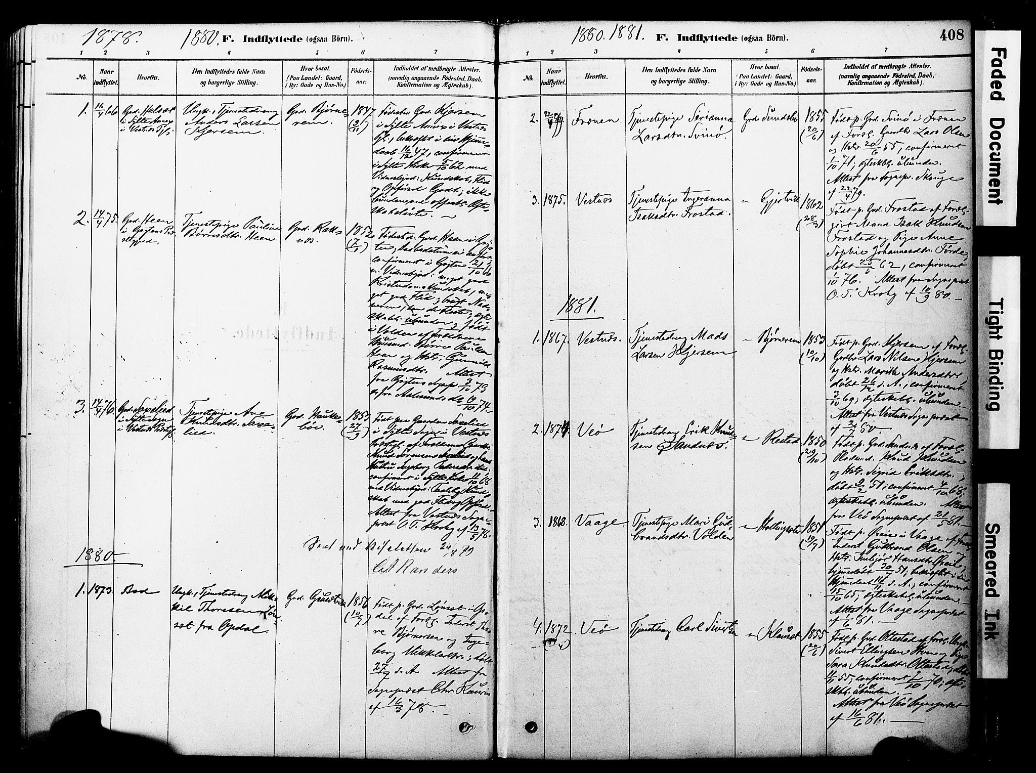 SAT, Ministerialprotokoller, klokkerbøker og fødselsregistre - Møre og Romsdal, 560/L0721: Ministerialbok nr. 560A05, 1878-1917, s. 408