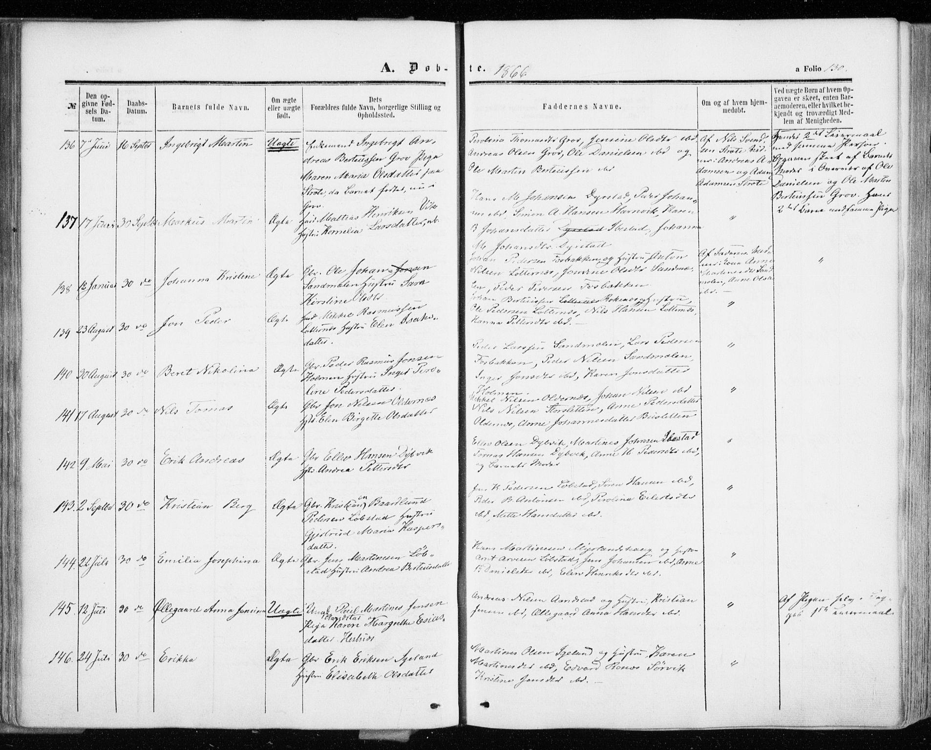 SATØ, Ibestad sokneprestembete, H/Ha/Haa/L0009kirke: Ministerialbok nr. 9, 1859-1868, s. 130