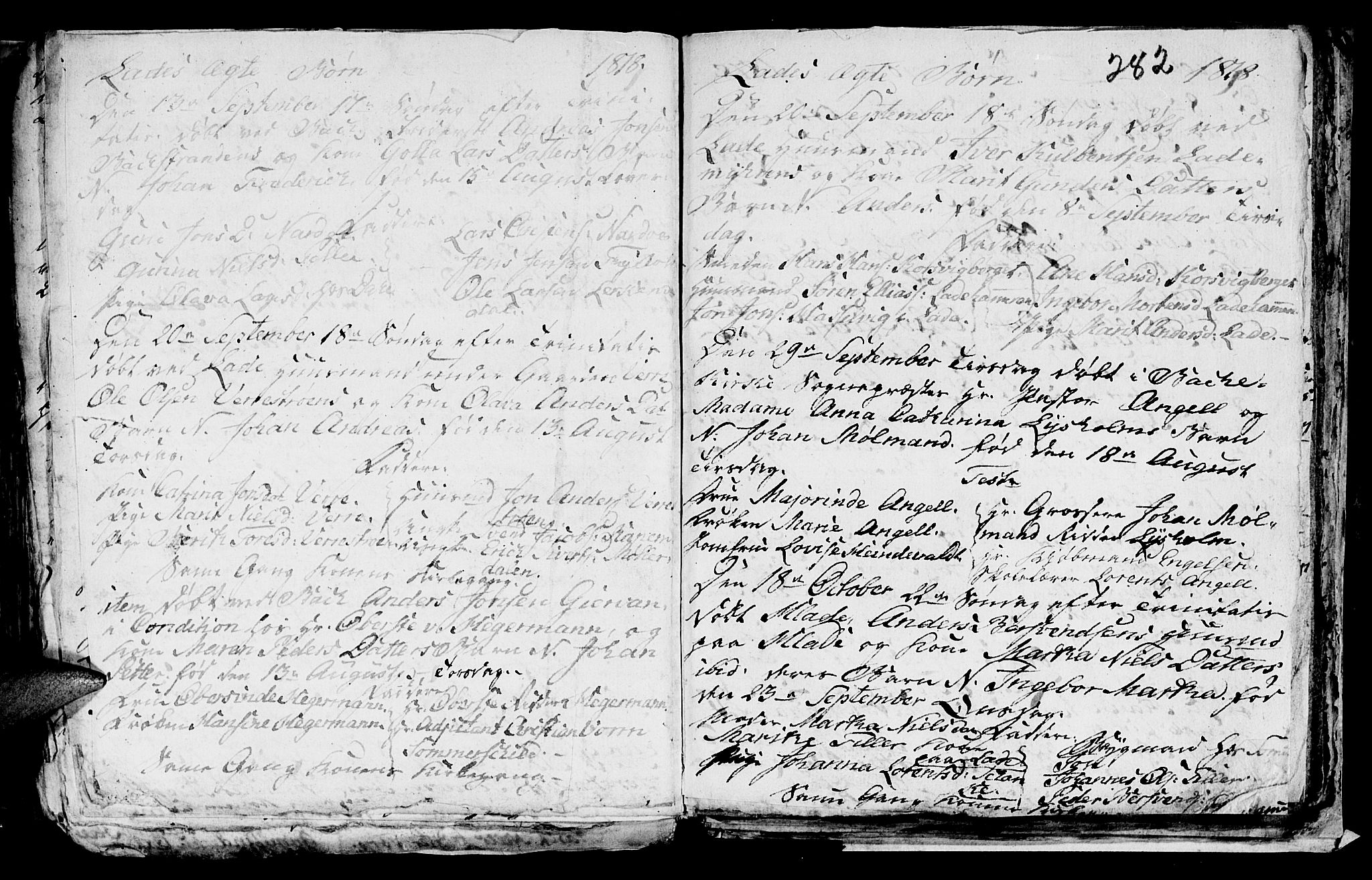 SAT, Ministerialprotokoller, klokkerbøker og fødselsregistre - Sør-Trøndelag, 606/L0305: Klokkerbok nr. 606C01, 1757-1819, s. 282