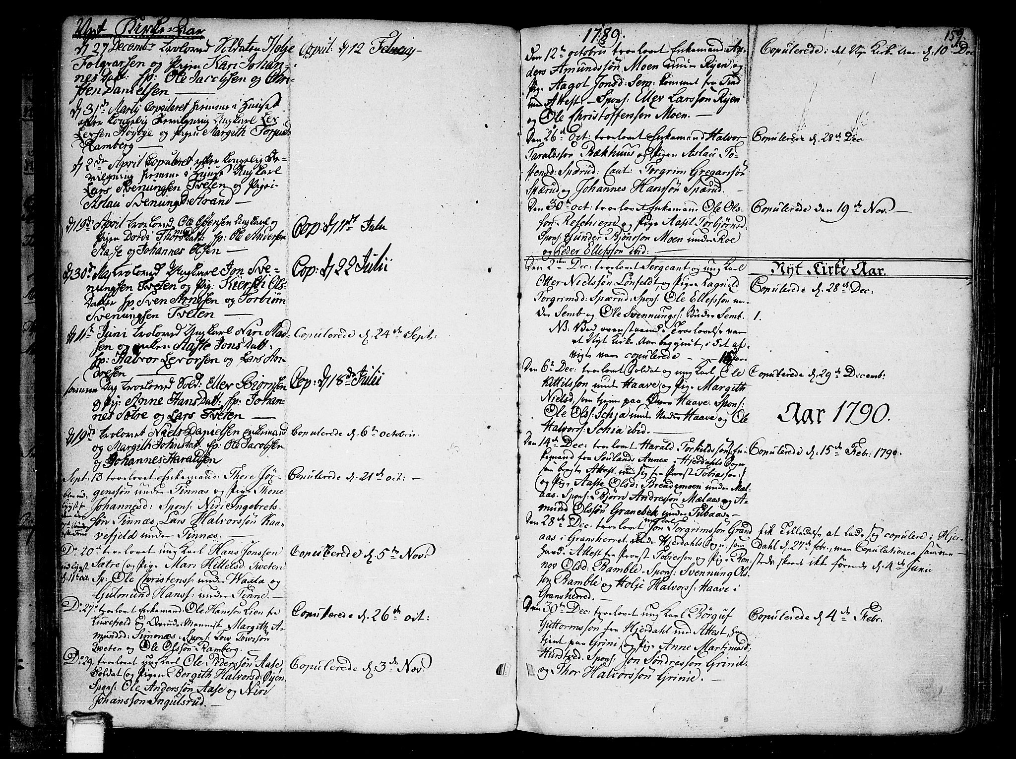 SAKO, Heddal kirkebøker, F/Fa/L0004: Ministerialbok nr. I 4, 1784-1814, s. 159